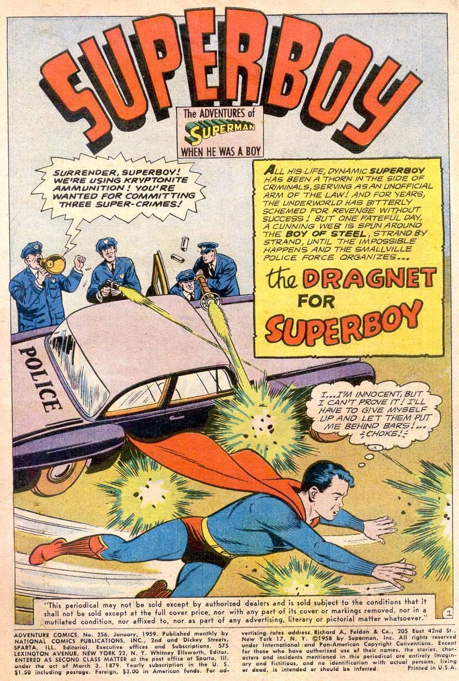 Read online Adventure Comics (1938) comic -  Issue #256 - 3