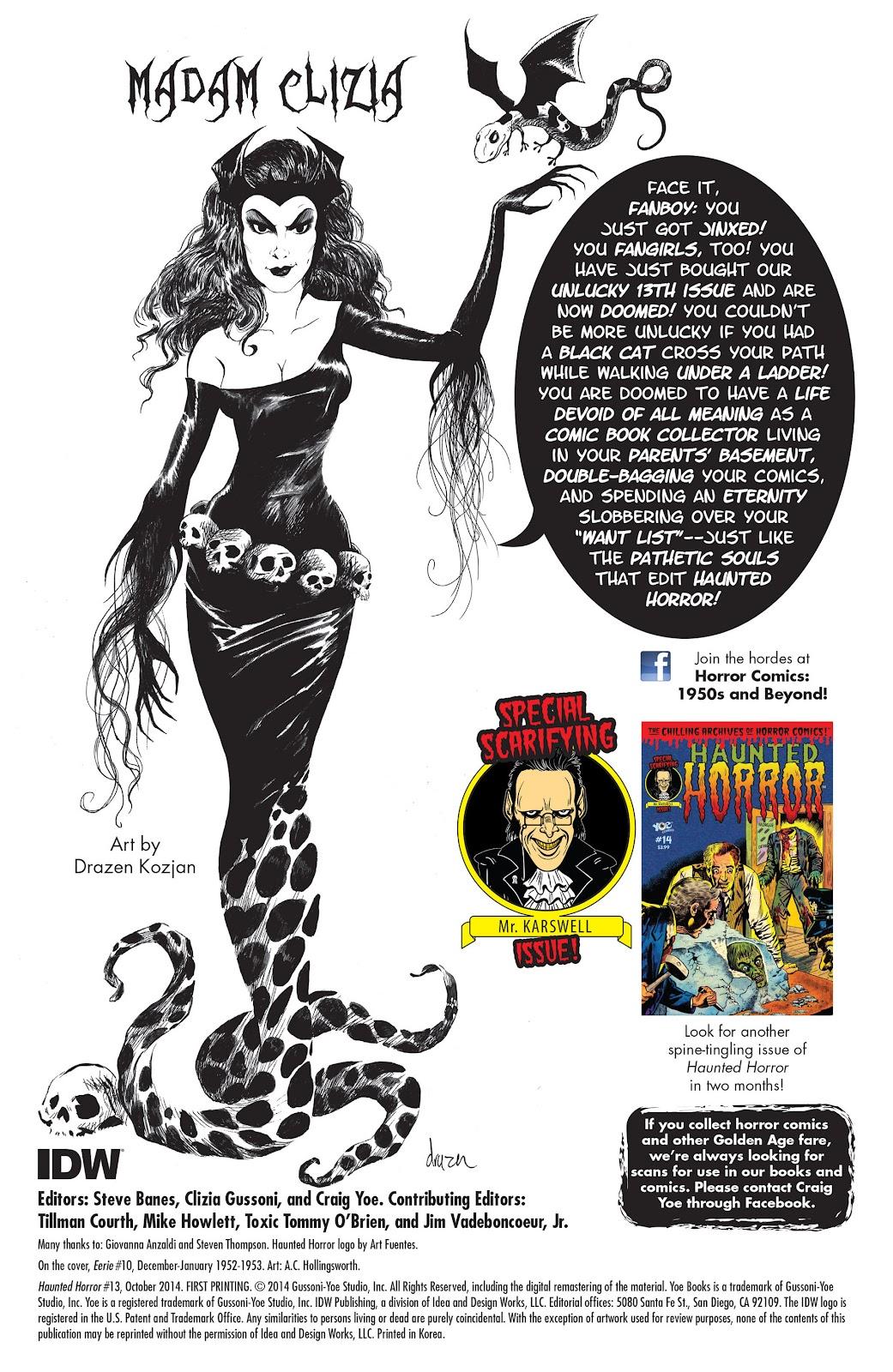 Haunted Horror Issue #13 #13 - English 2