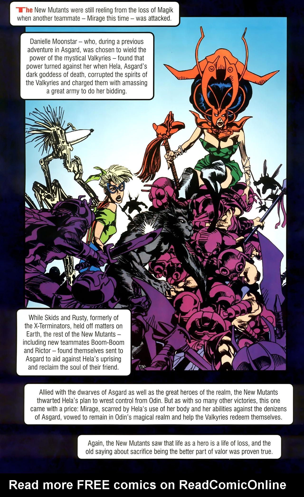 Read online New Mutants Saga comic -  Issue # Full - 30