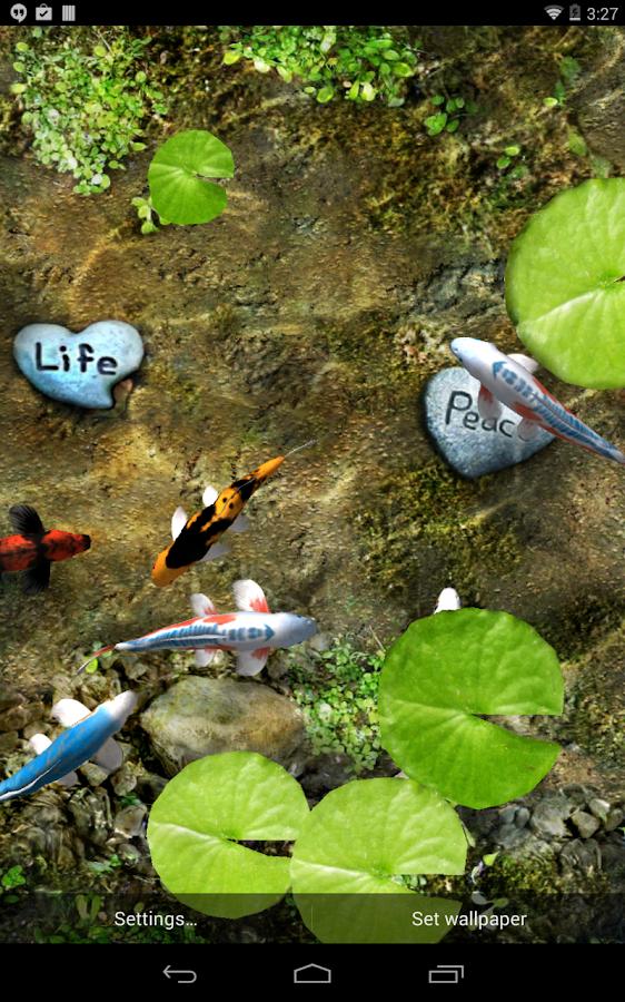 خلفية متحركة الاسماك الملونة الاندرويد