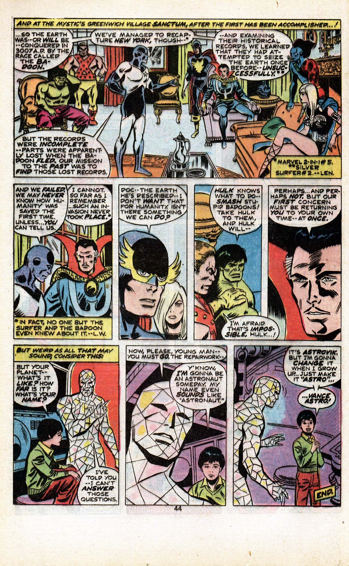Read online Giant-Size Defenders comic -  Issue #5 - 46