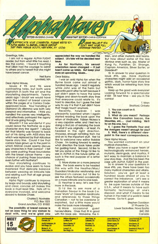 Alpha Flight (1983) 100 Page 38