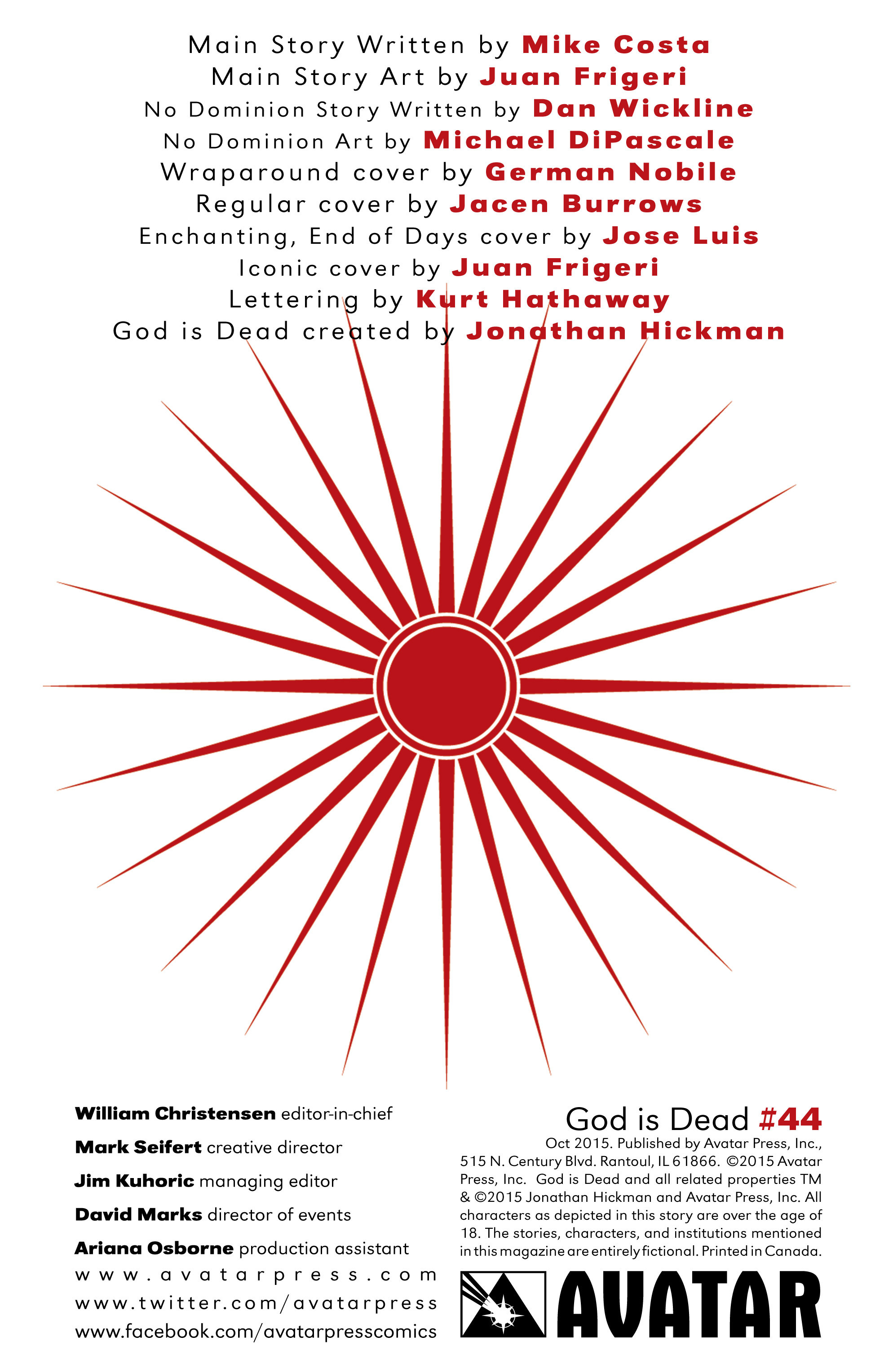 Read online God Is Dead comic -  Issue #44 - 2