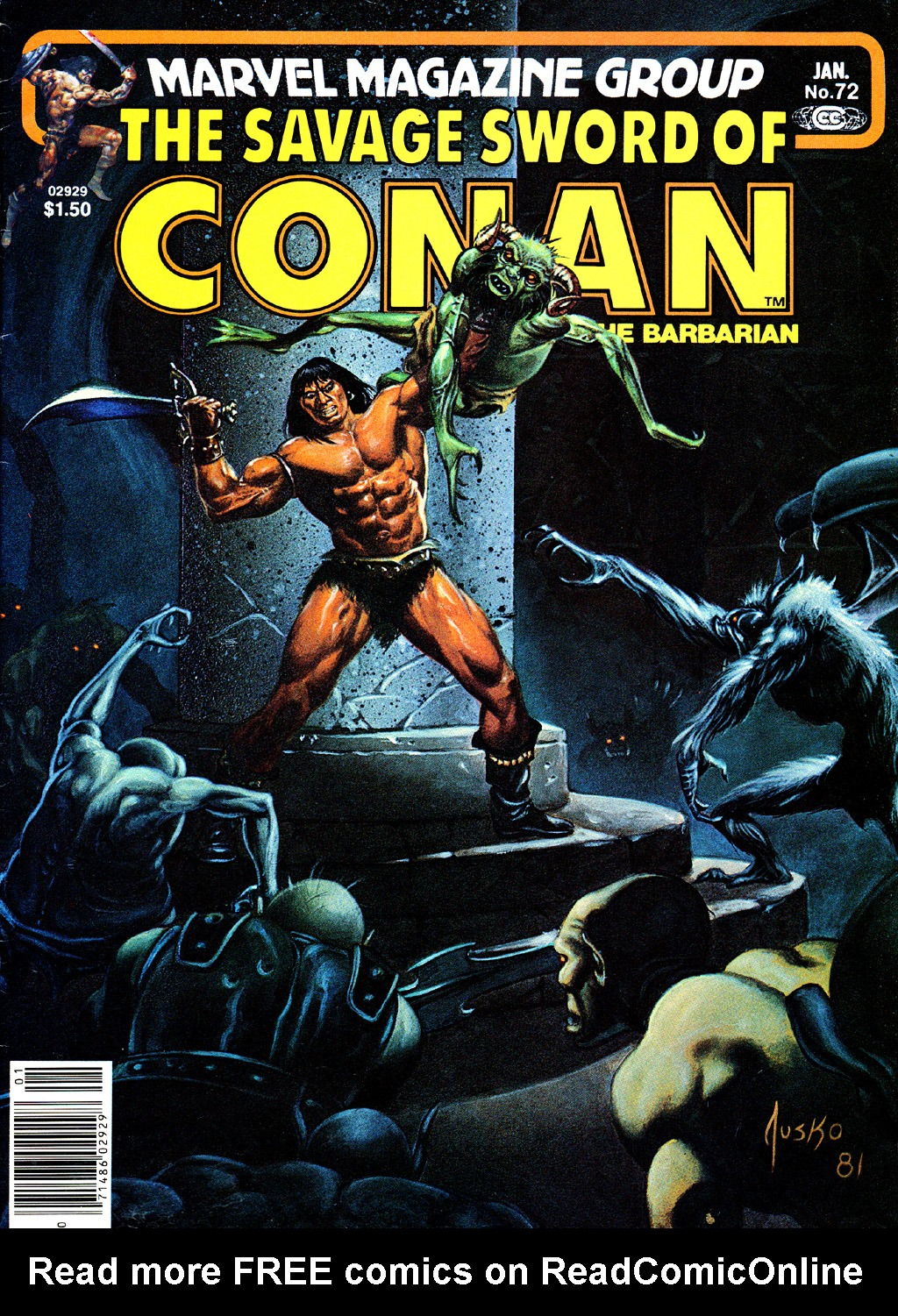 The Savage Sword Of Conan Issue #72 #73 - English 1