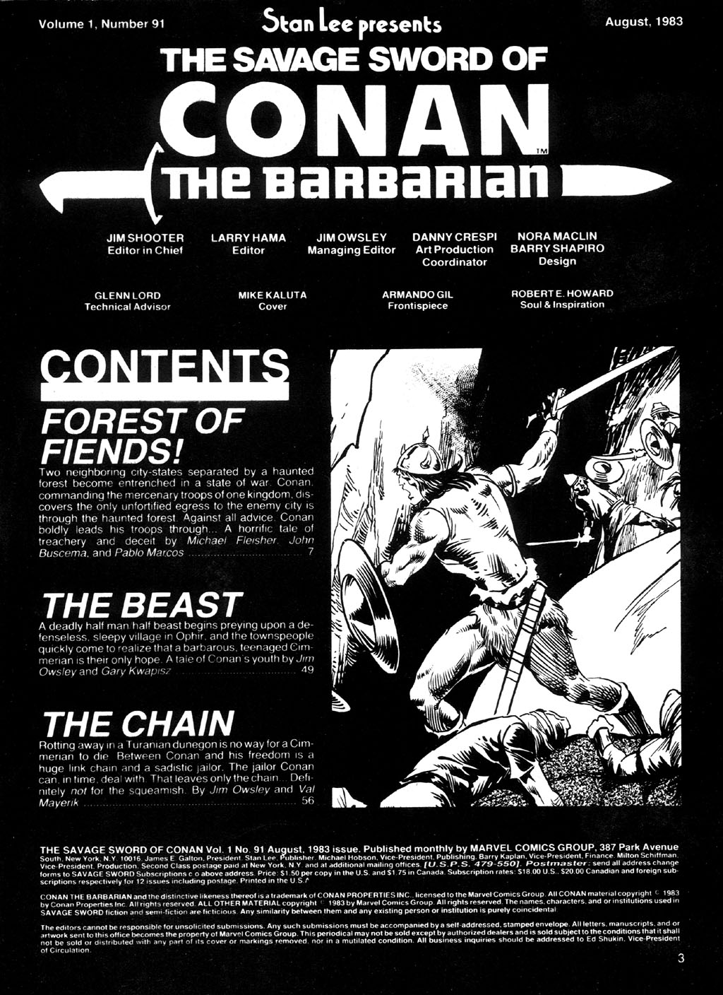 The Savage Sword Of Conan Issue #91 #92 - English 3