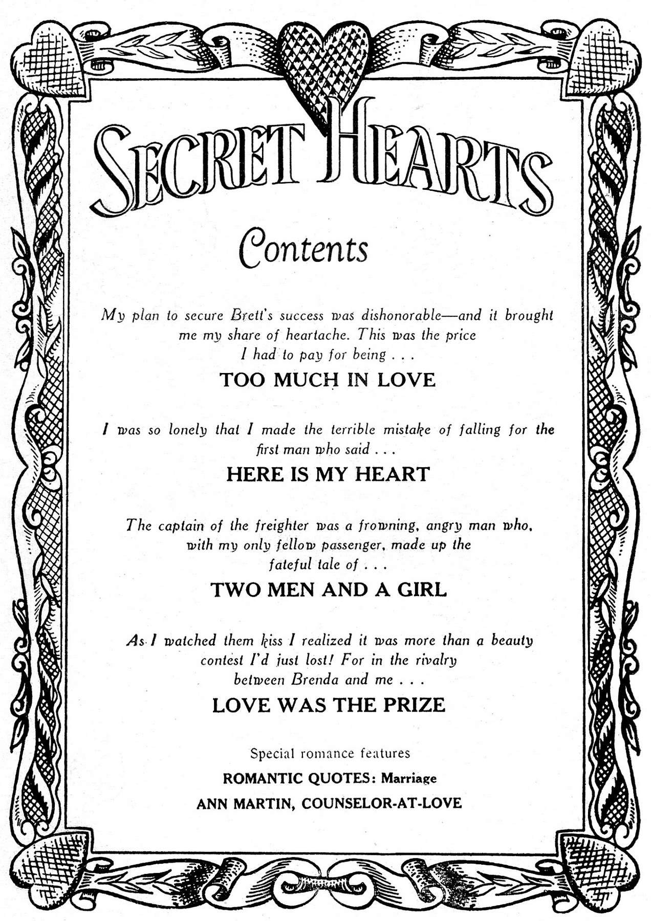 Read online Secret Hearts comic -  Issue #17 - 2