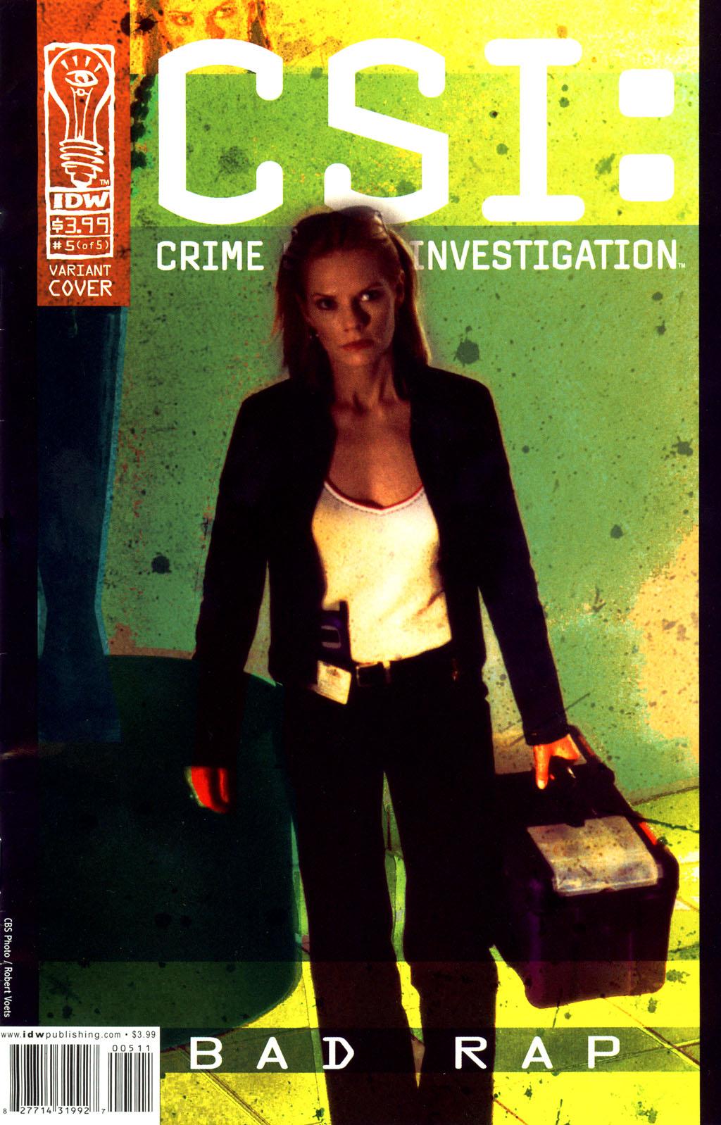 Read online CSI: Crime Scene Investigation: Bad Rap comic -  Issue #5 - 2