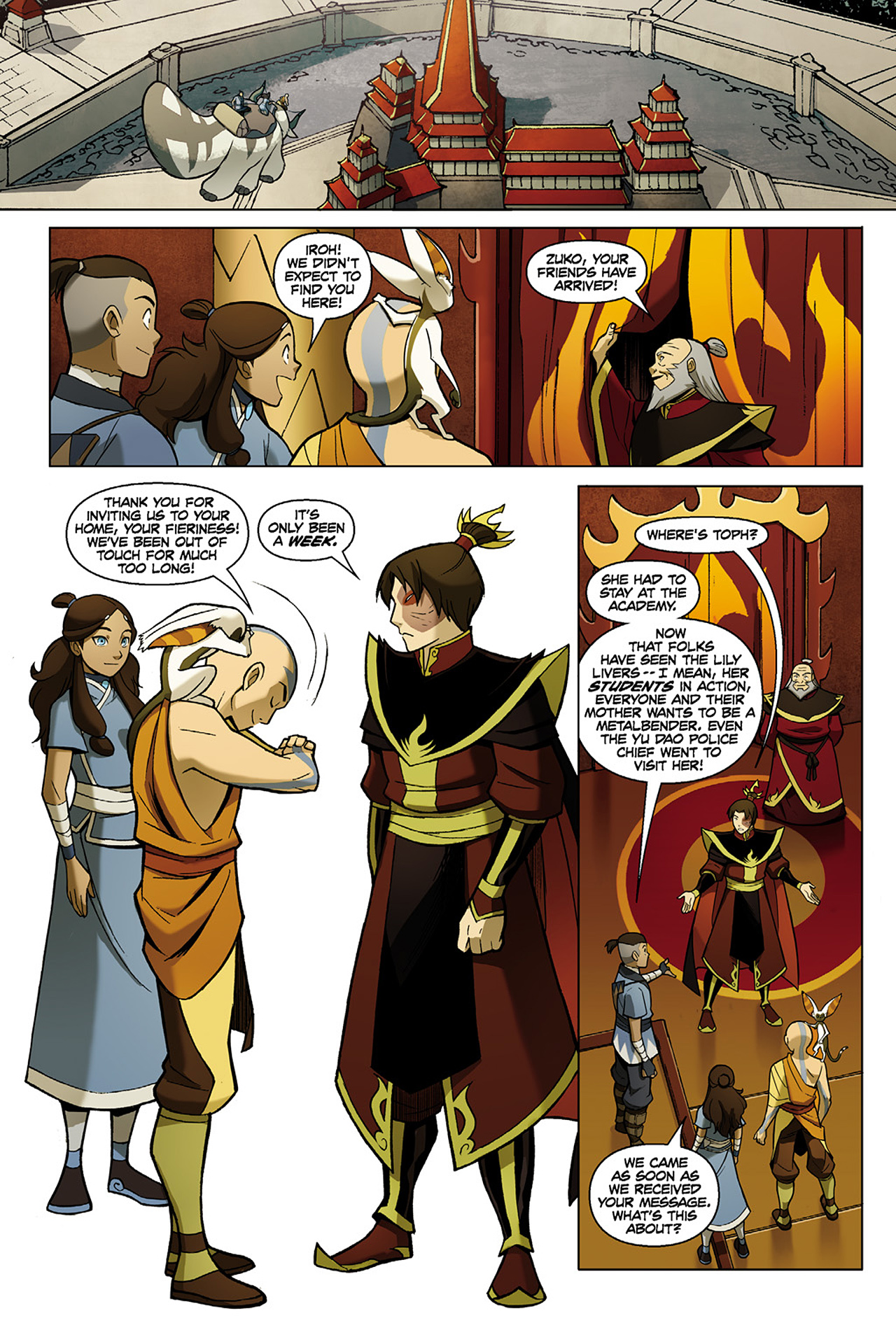 Read online Nickelodeon Avatar: The Last Airbender - The Search comic -  Issue # Part 1 - 36