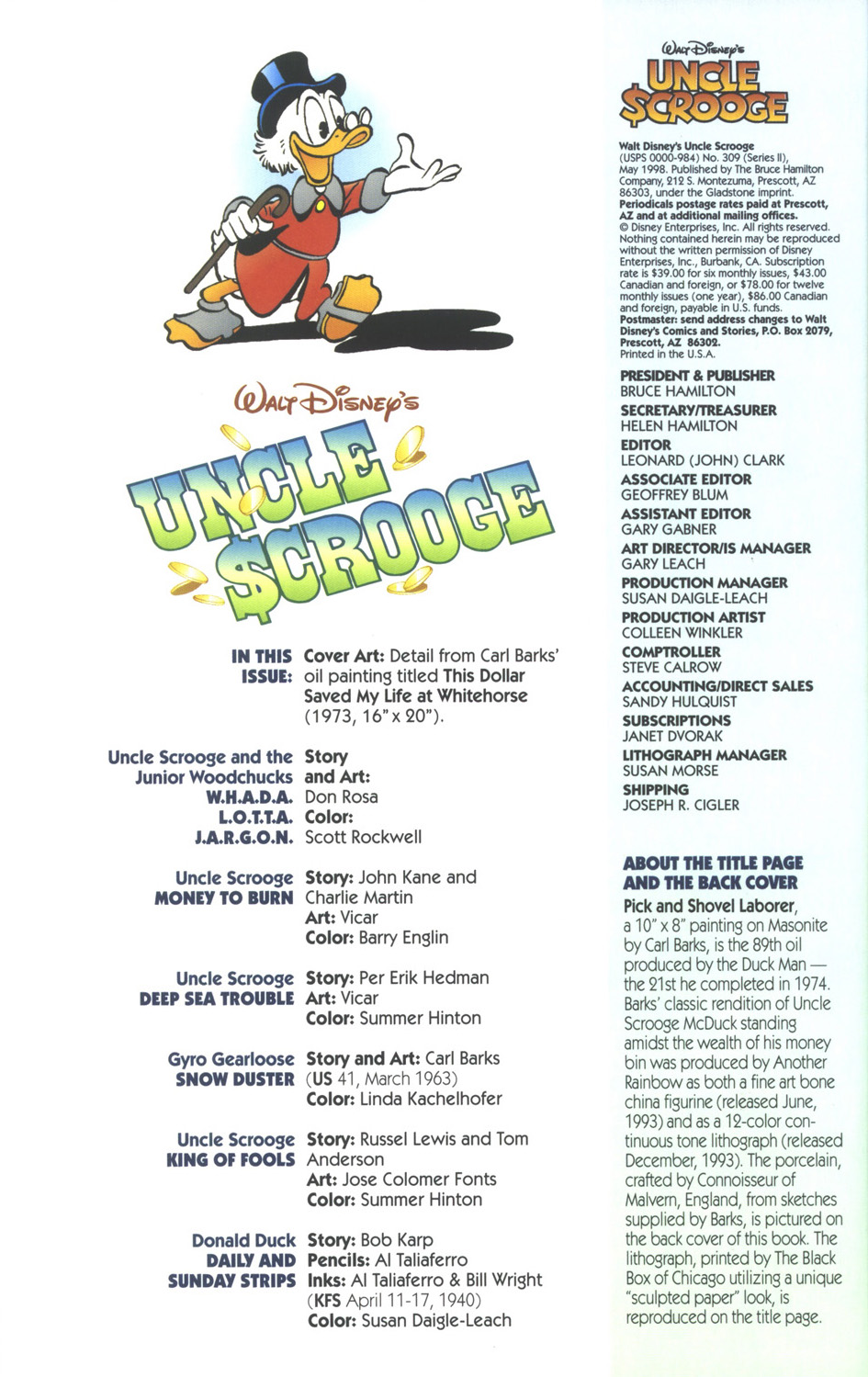 Uncle Scrooge (1953) Issue #309 #309 - English 4