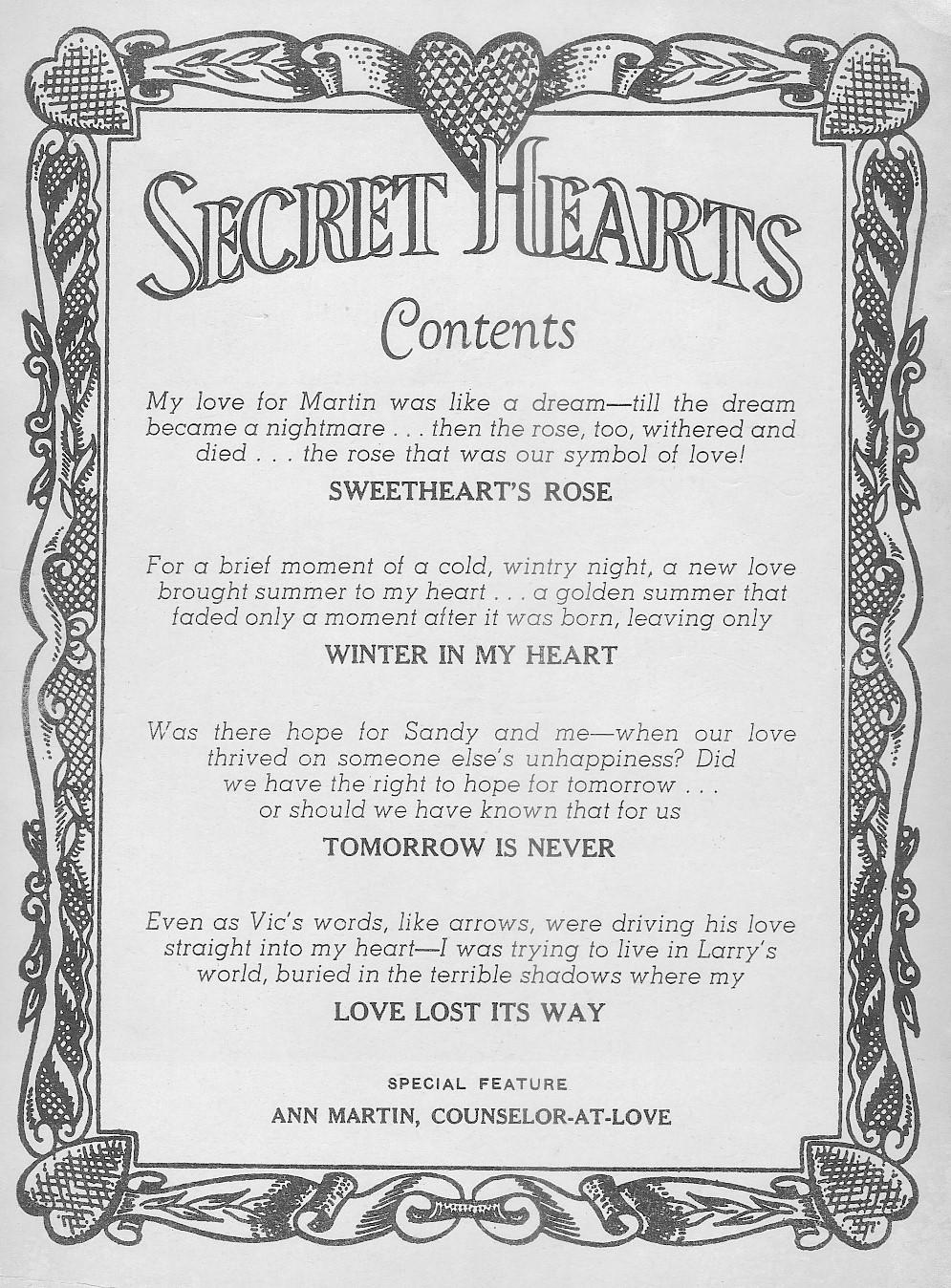 Read online Secret Hearts comic -  Issue #44 - 2