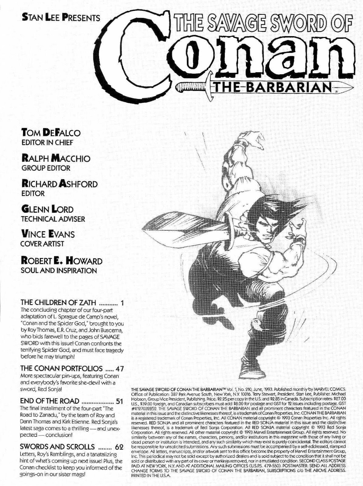 The Savage Sword Of Conan Issue #210 #211 - English 2