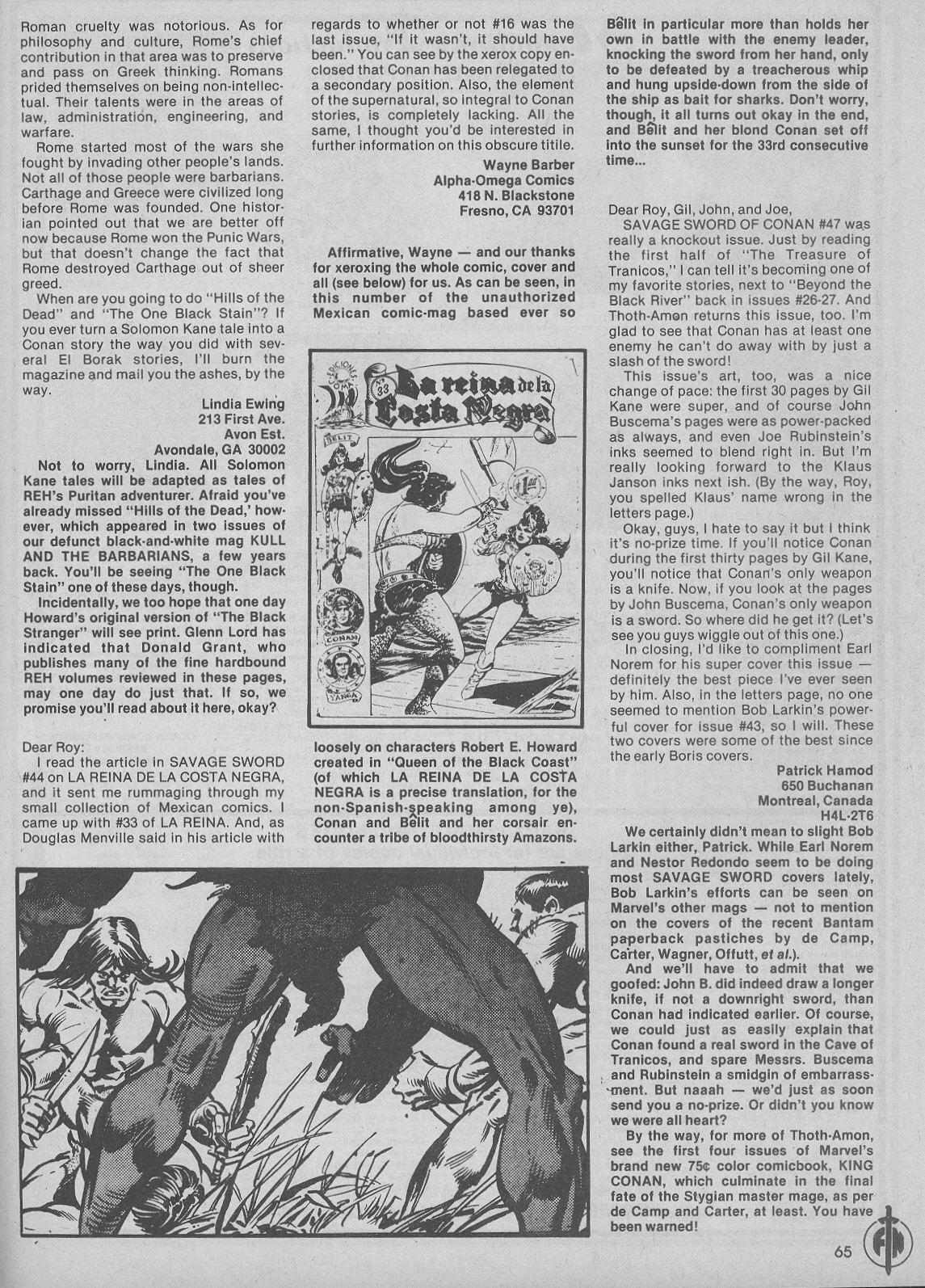 The Savage Sword Of Conan Issue #51 #52 - English 65