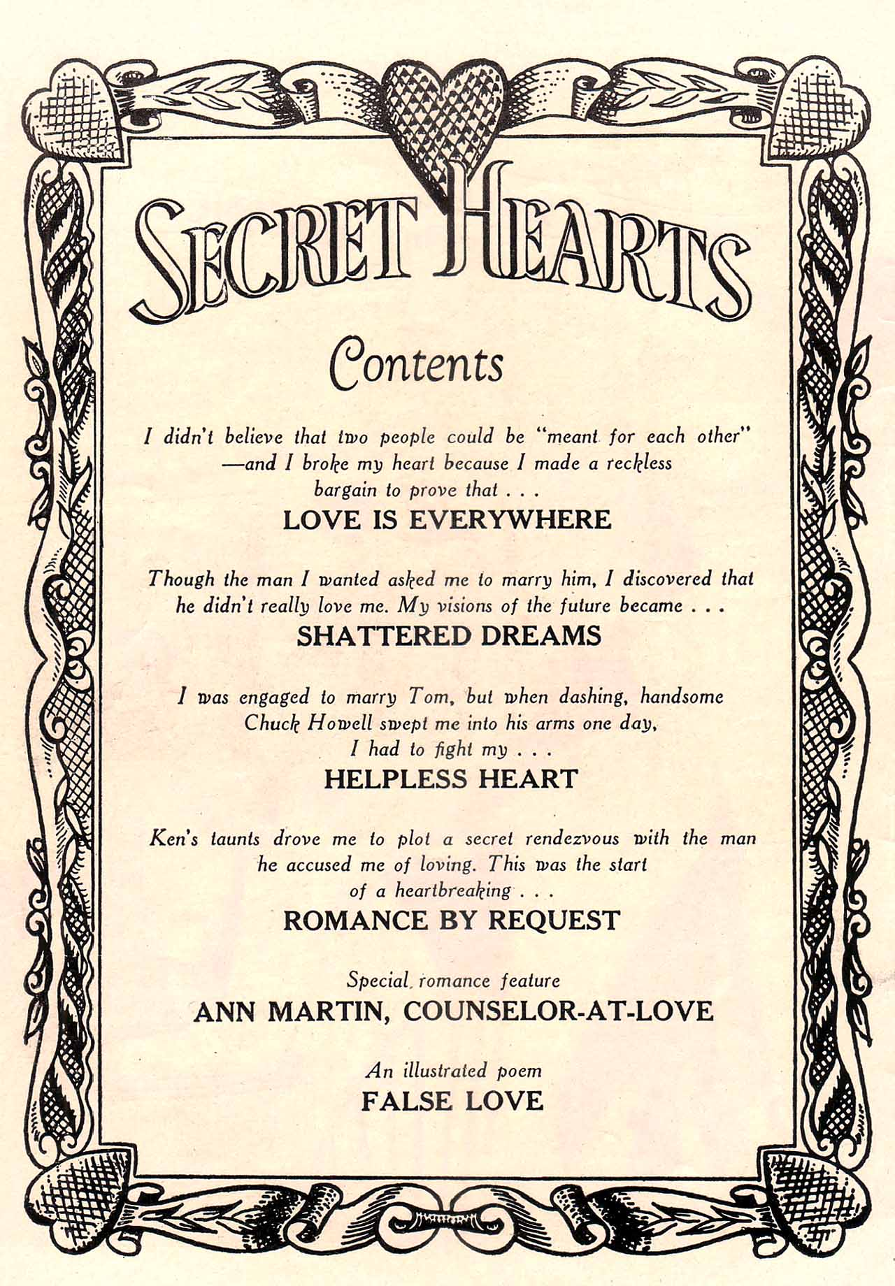 Read online Secret Hearts comic -  Issue #12 - 2