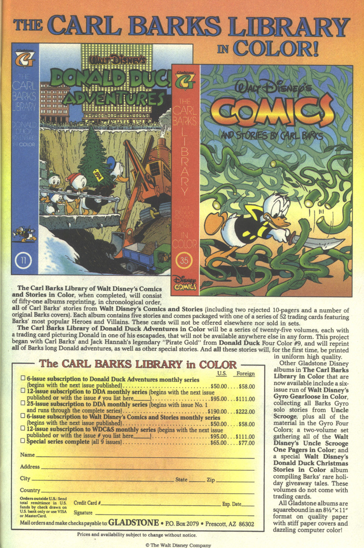 Walt Disney's Donald Duck Adventures (1987) Issue #30 #30 - English 63
