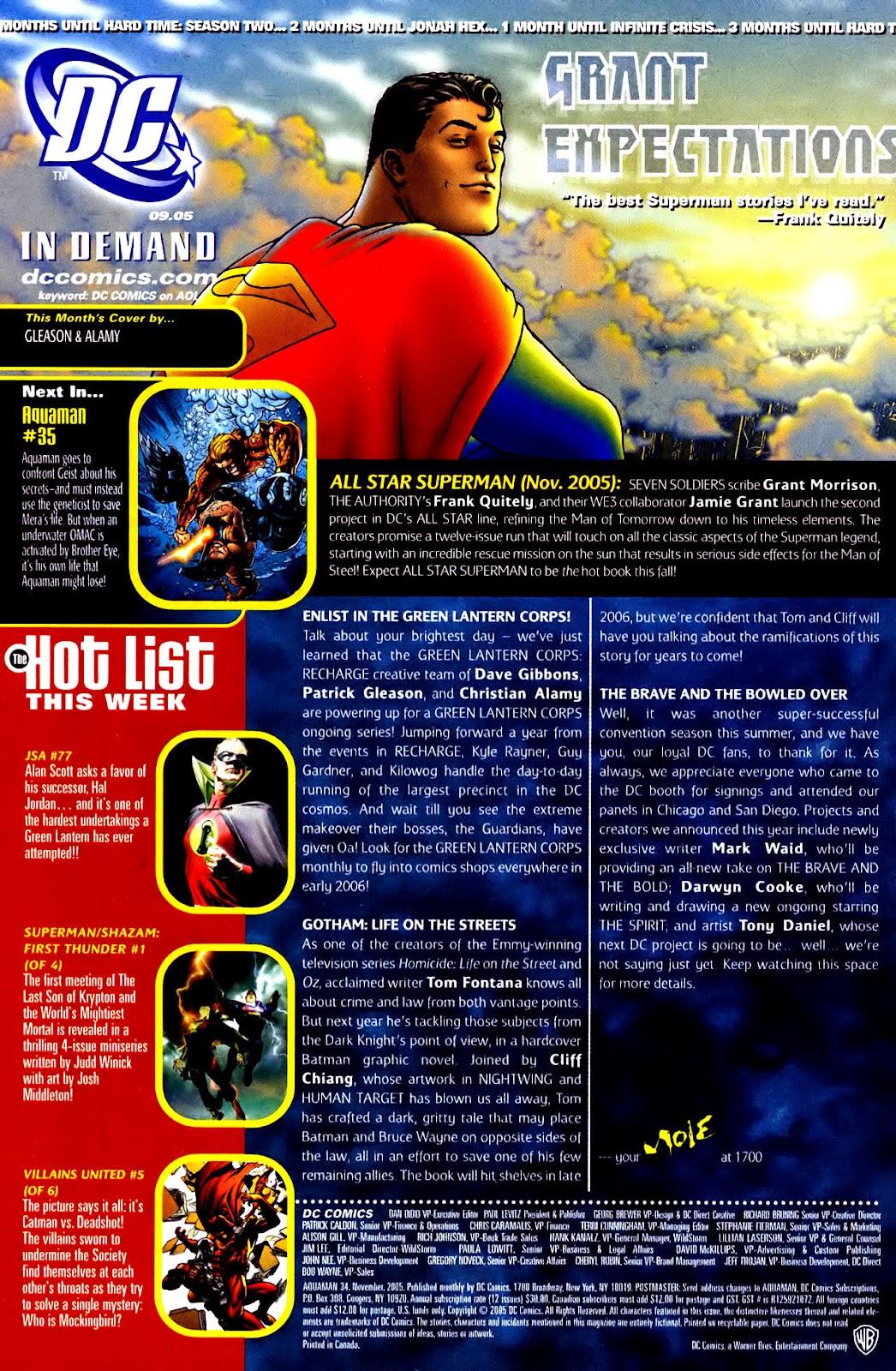 Aquaman (2003) Issue #34 #34 - English 24