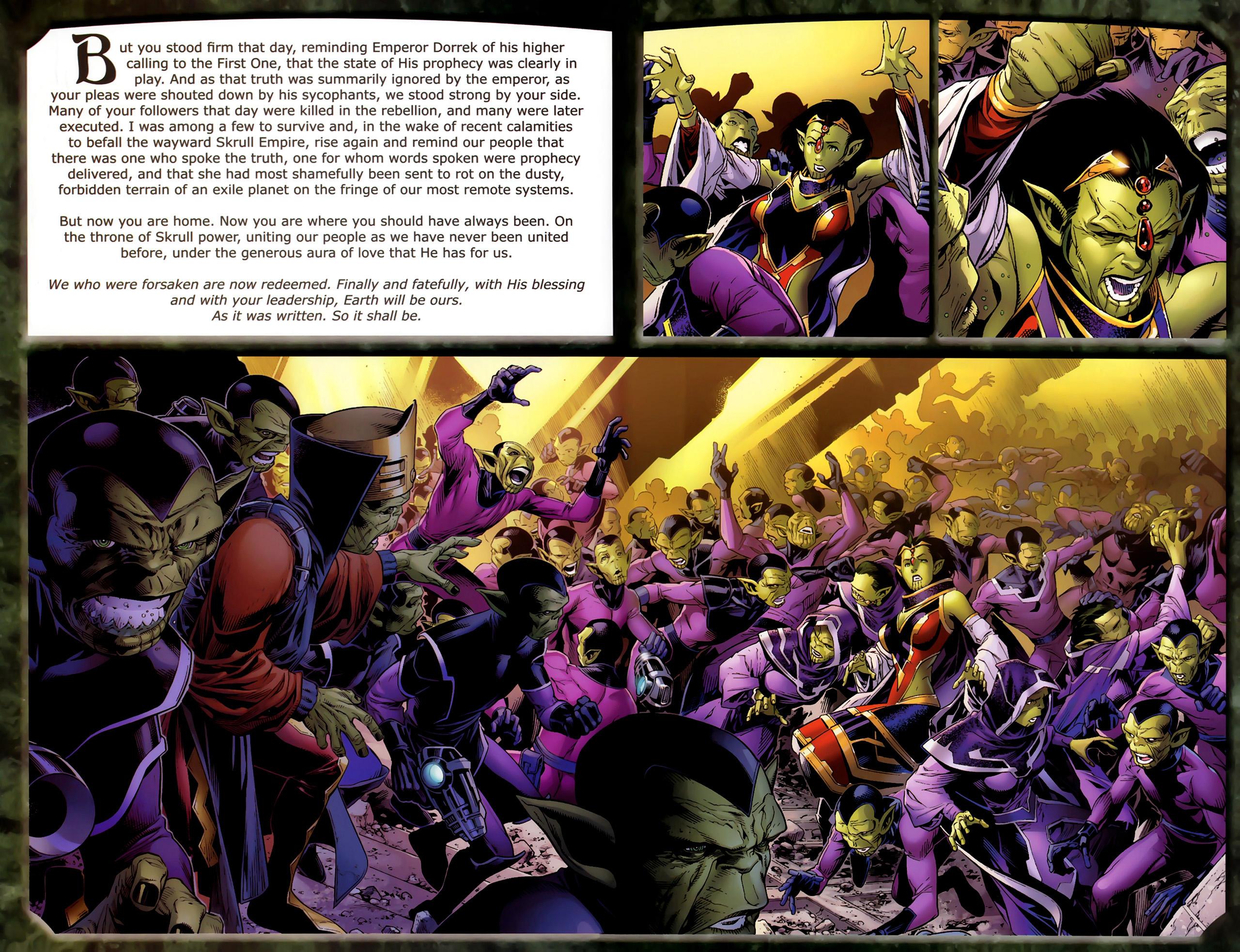 Read online Skrulls! comic -  Issue # Full - 4