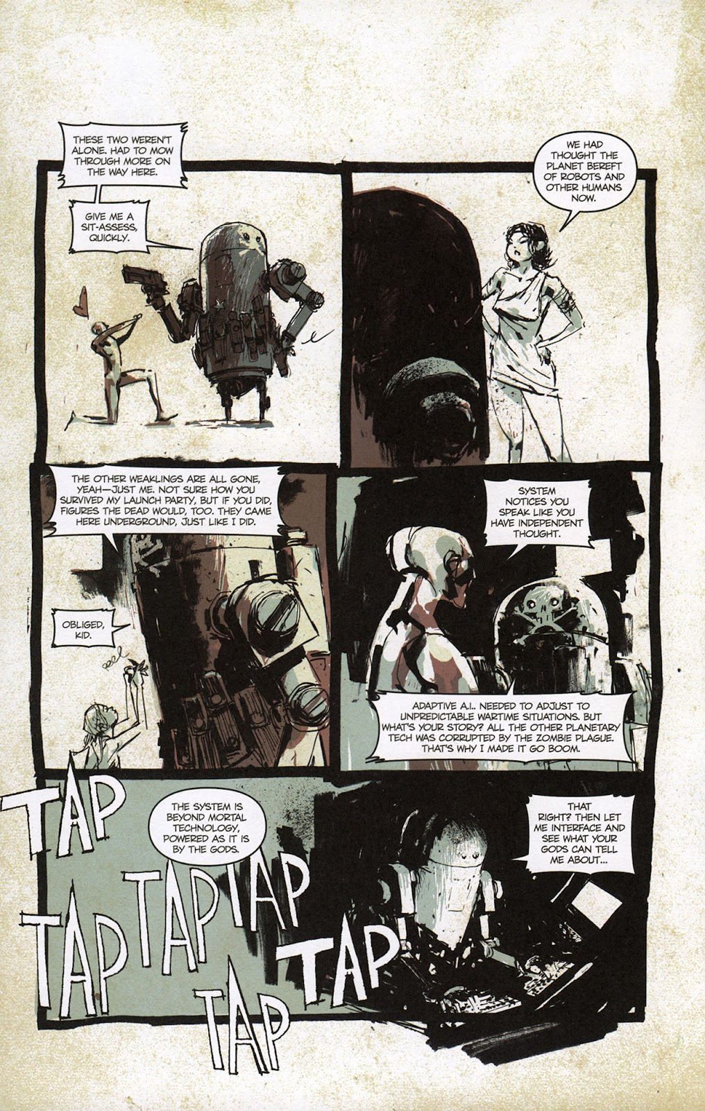Zombies vs. Robots vs. Amazons Issue #1 Page 17