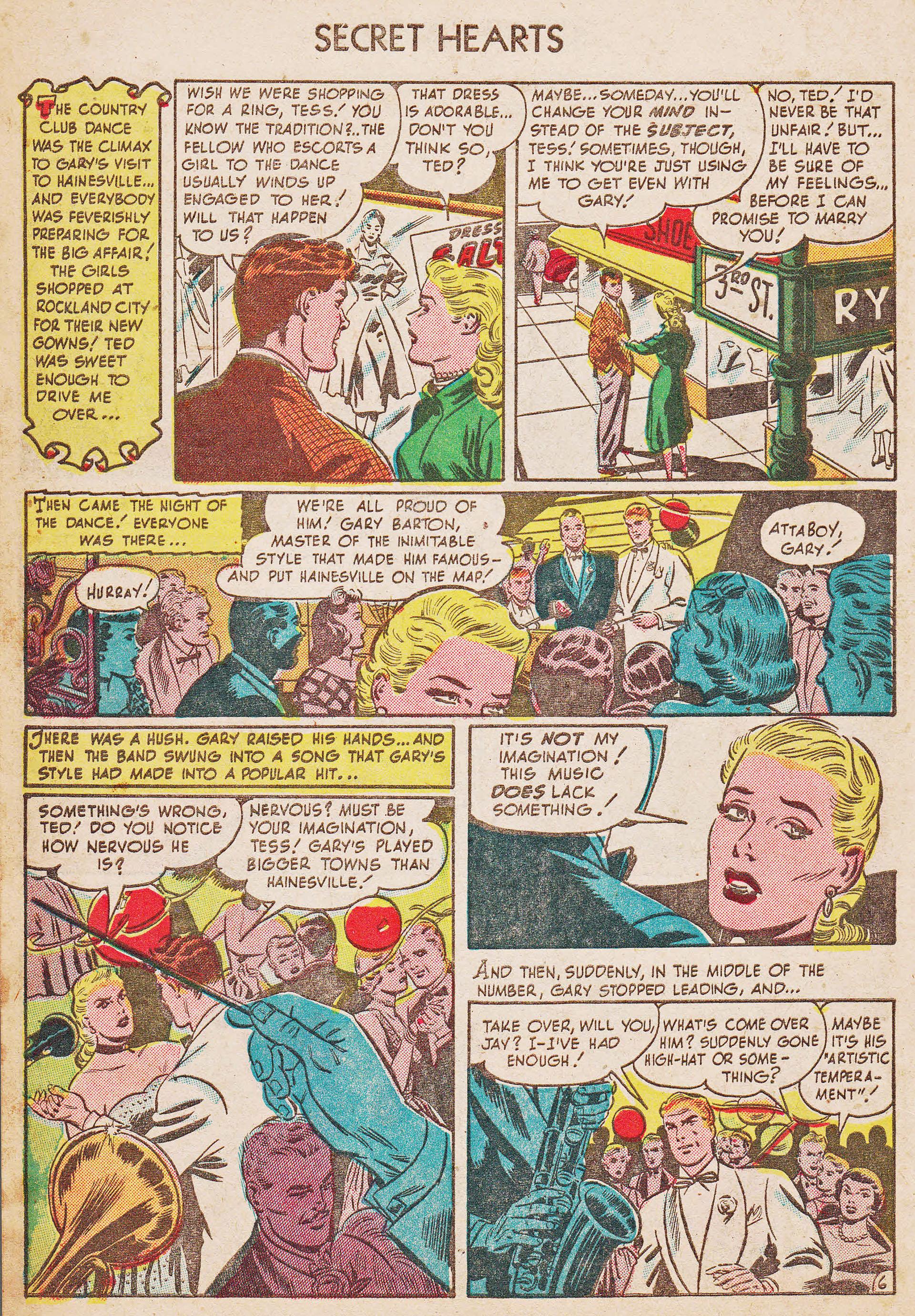 Read online Secret Hearts comic -  Issue #7 - 8