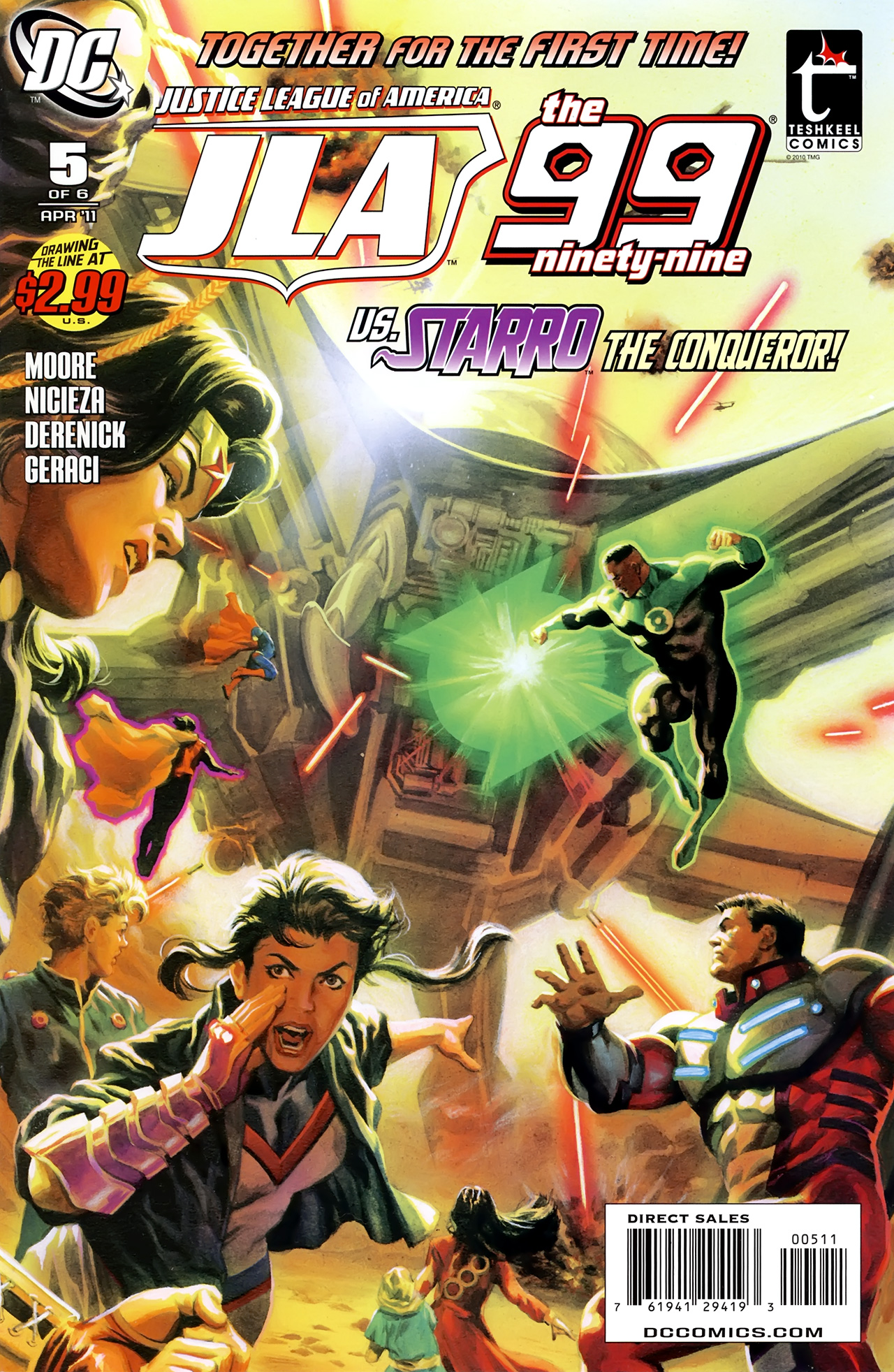 Read online Justice League of America/The 99 comic -  Issue #5 - 1