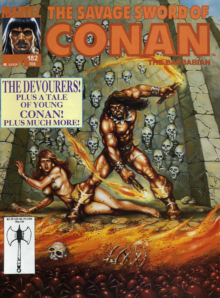 The Savage Sword Of Conan Issue #182 #183 - English 1