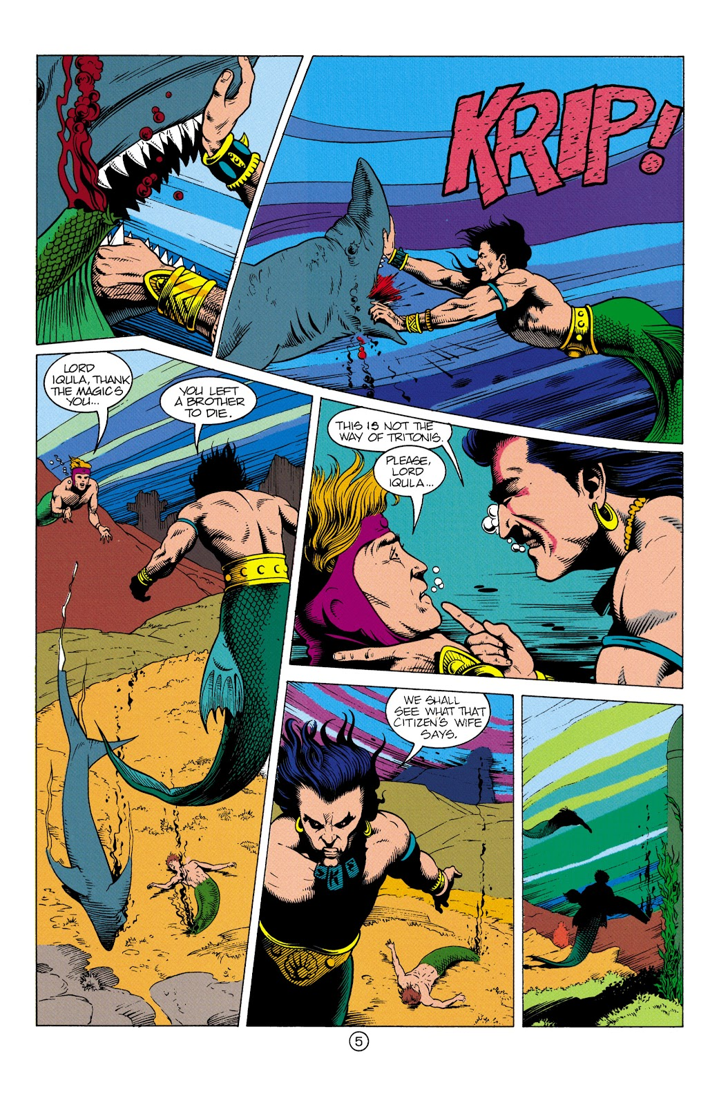 Aquaman (1991) Issue #3 #3 - English 6
