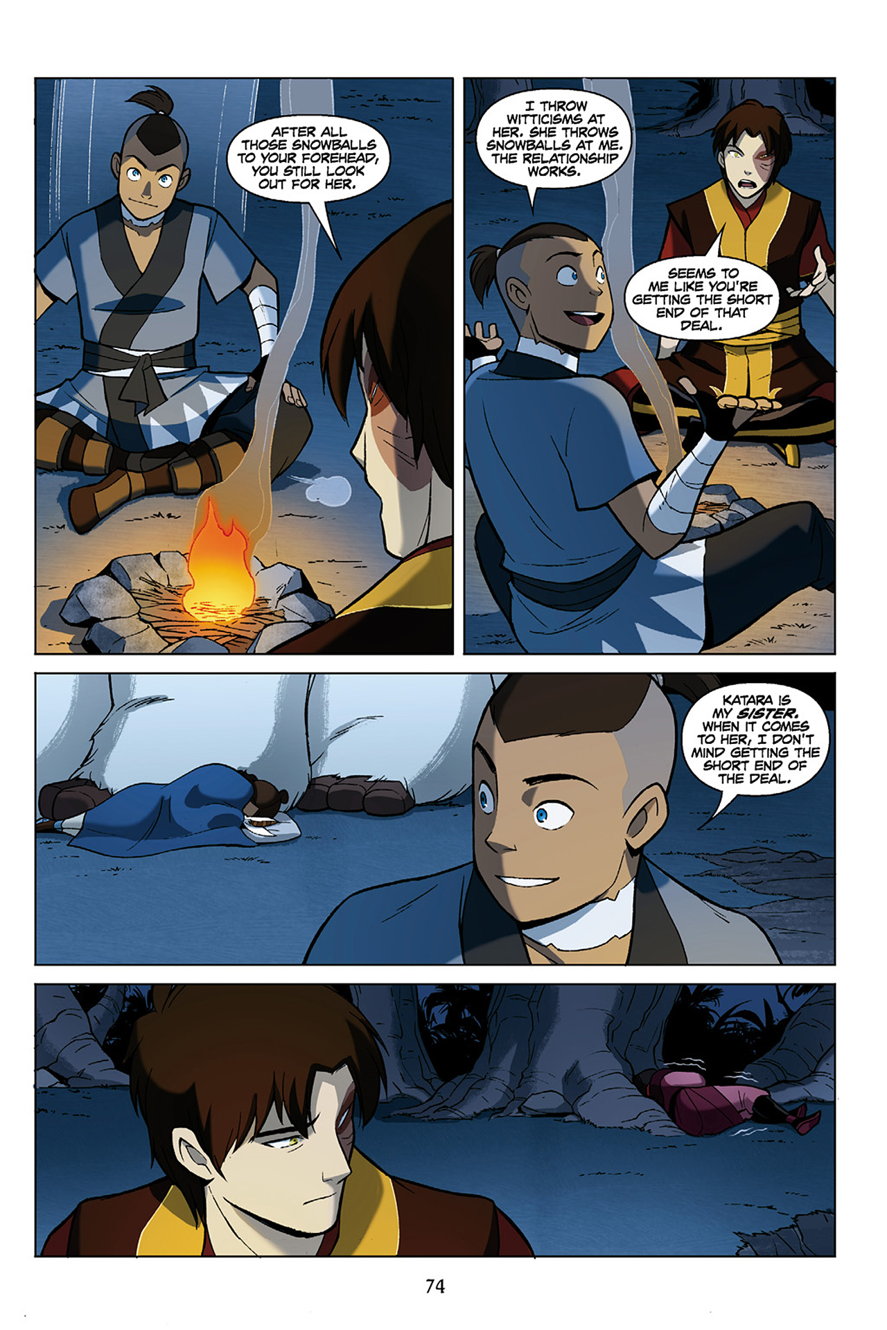 Read online Nickelodeon Avatar: The Last Airbender - The Search comic -  Issue # Part 1 - 75