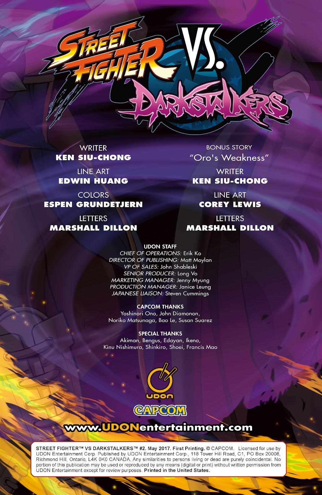 Street Fighter VS Darkstalkers Issue #2 #3 - English 2