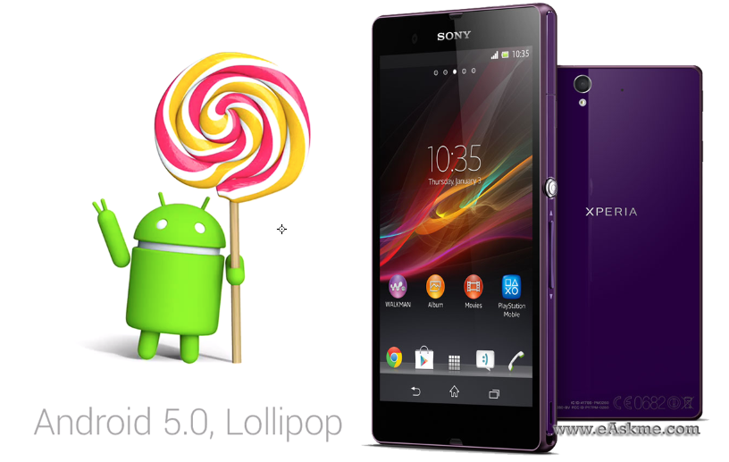 Android 5.0 Lollipop update for Sony Xperia Z series : eAskme