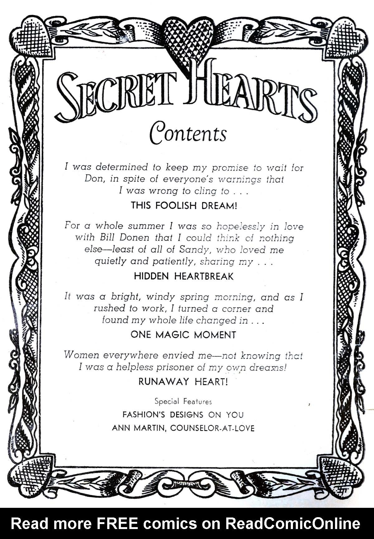 Read online Secret Hearts comic -  Issue #34 - 2