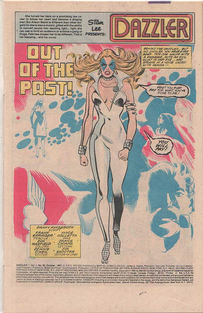Dazzler (1981) 20 Page 2