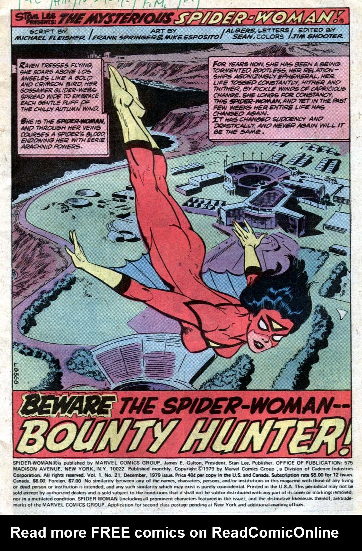 Spider-Woman (1978) #21 #30 - English 2