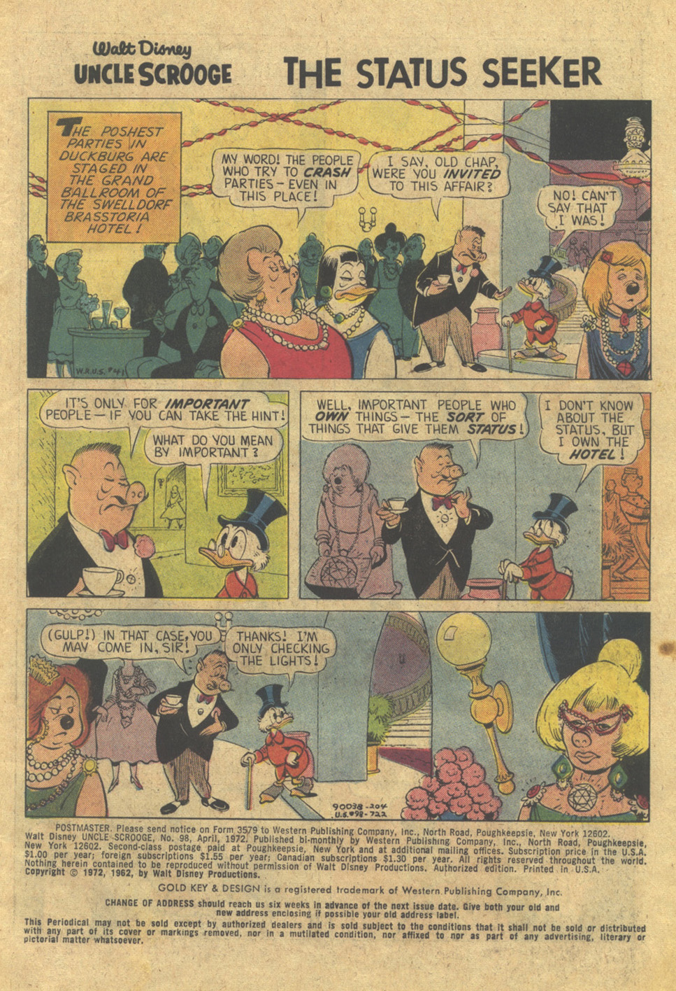 Uncle Scrooge (1953) Issue #98 #98 - English 3