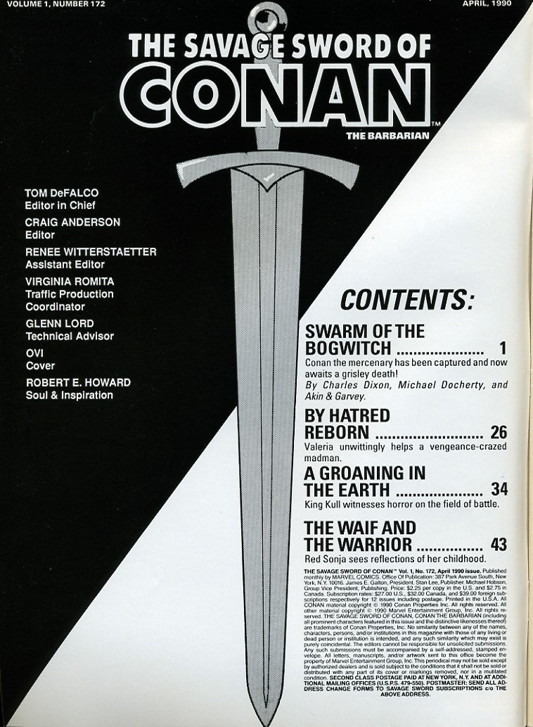 The Savage Sword Of Conan Issue #172 #173 - English 2