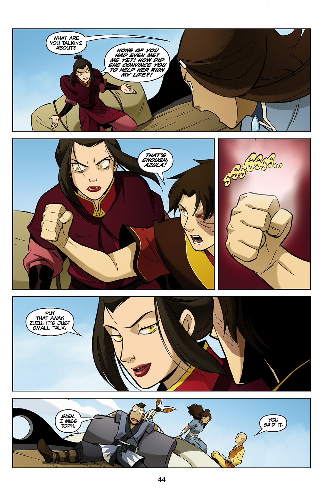 Read online Nickelodeon Avatar: The Last Airbender - The Search comic -  Issue # Part 1 - 45