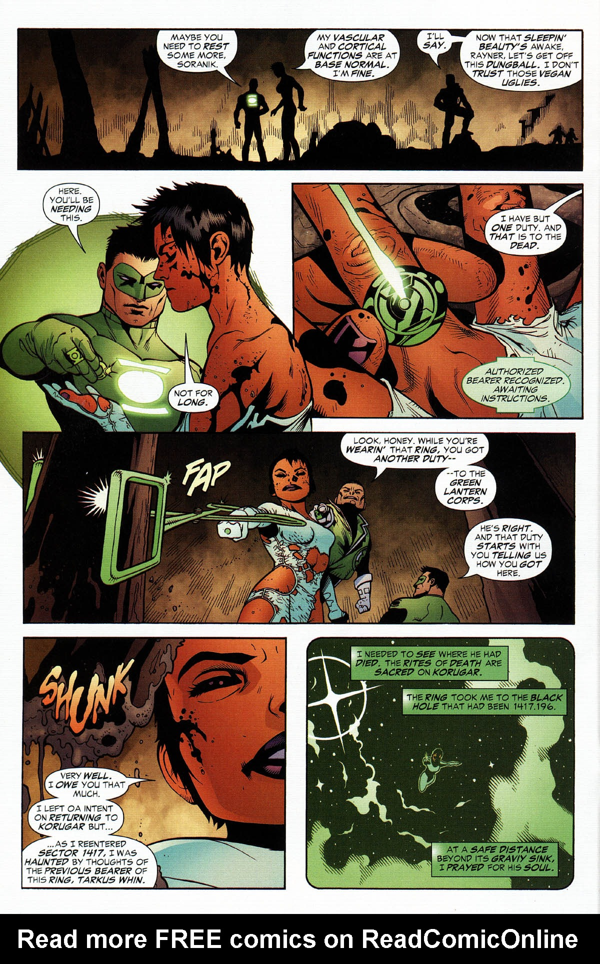 Read online Green Lantern Corps: Recharge comic -  Issue #3 - 13