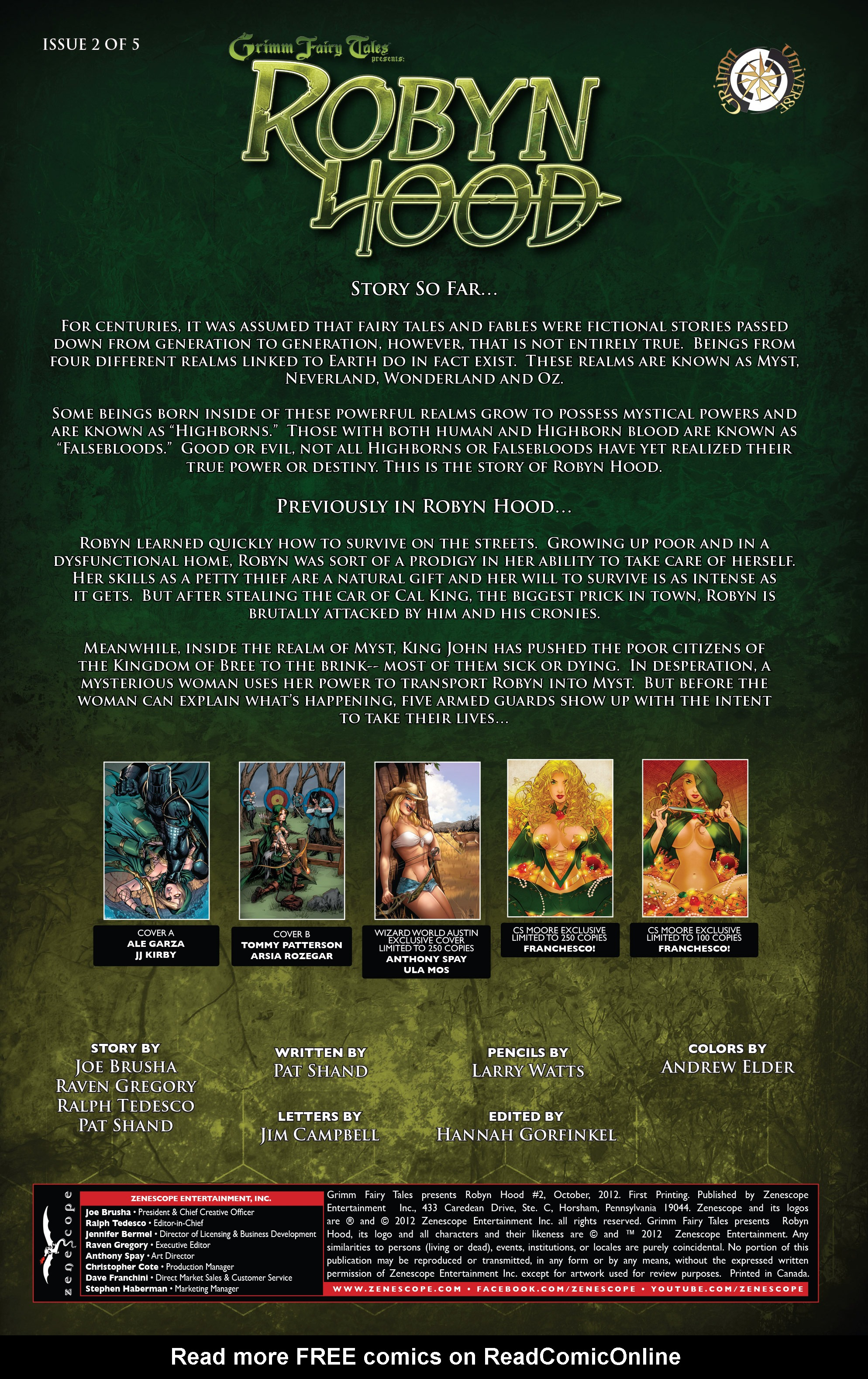 Read online Grimm Fairy Tales presents Robyn Hood (2012) comic -  Issue #2 - 2
