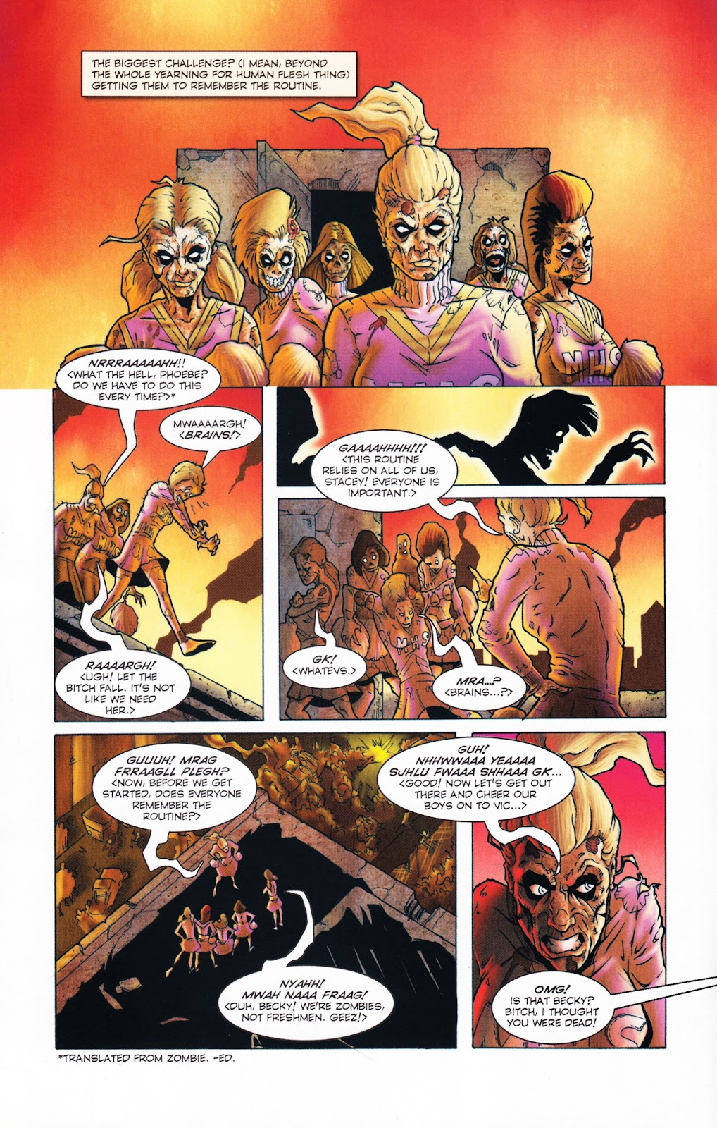 Zombies vs Cheerleaders Issue #2 Page 7