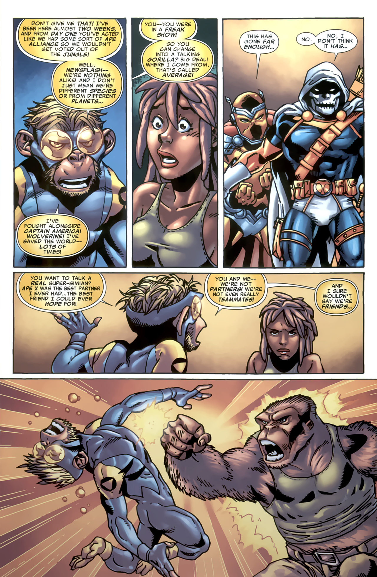 Read online Marvel Apes: Speedball Special comic -  Issue # Full - 9