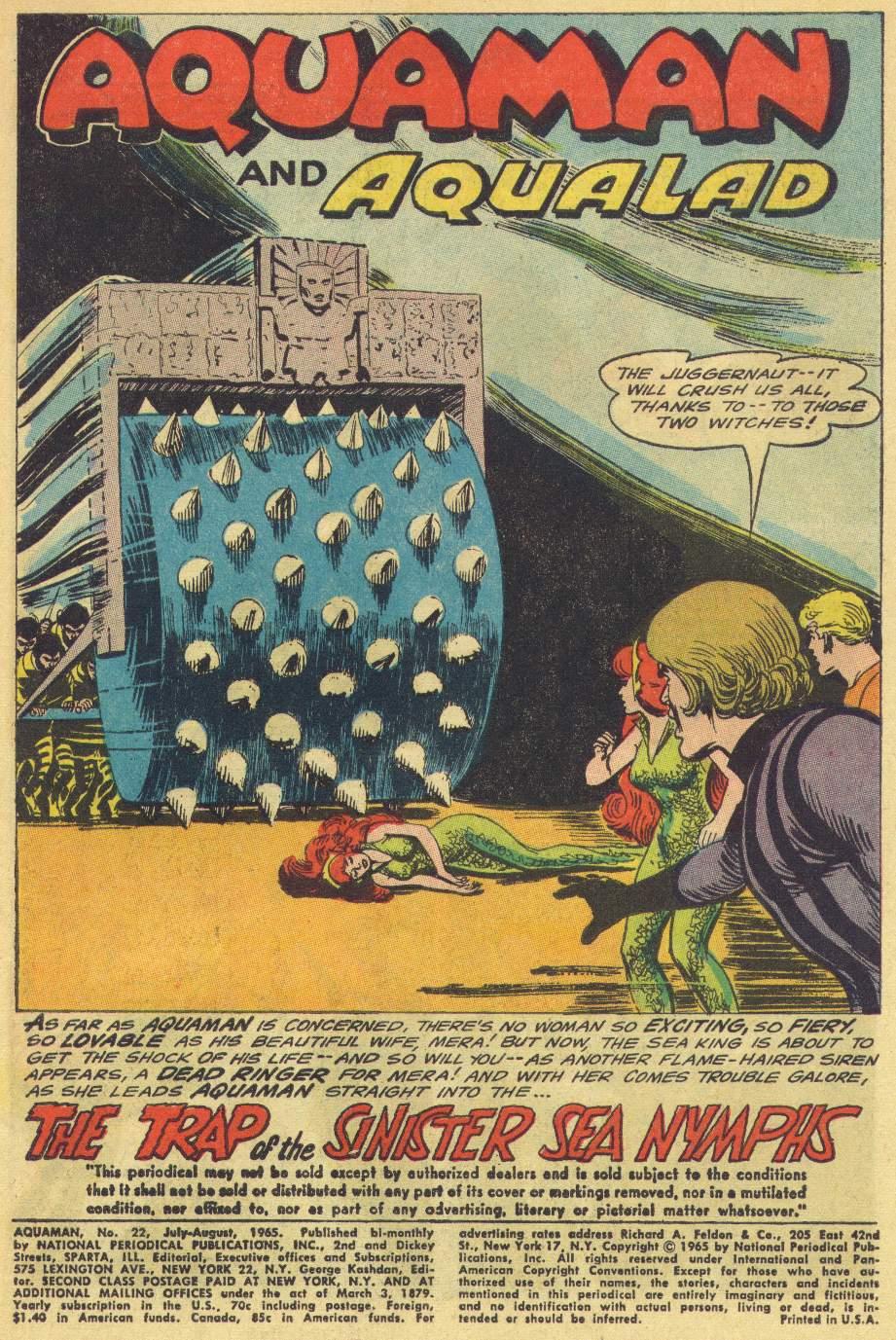 Read online Aquaman (1962) comic -  Issue #22 - 3