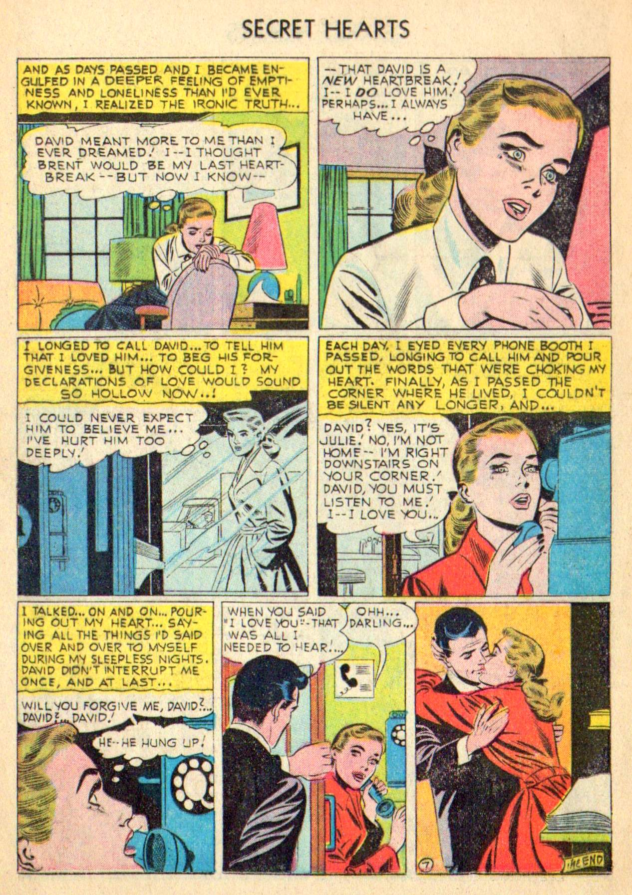 Read online Secret Hearts comic -  Issue #31 - 16