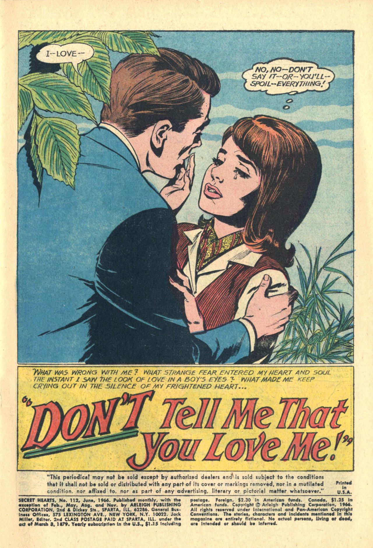 Read online Secret Hearts comic -  Issue #112 - 3