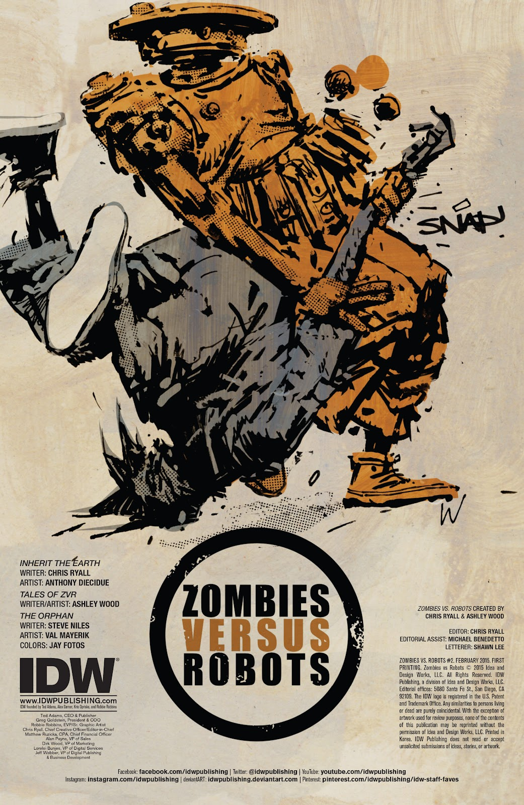 Zombies vs Robots (2015) Issue #2 Page 2