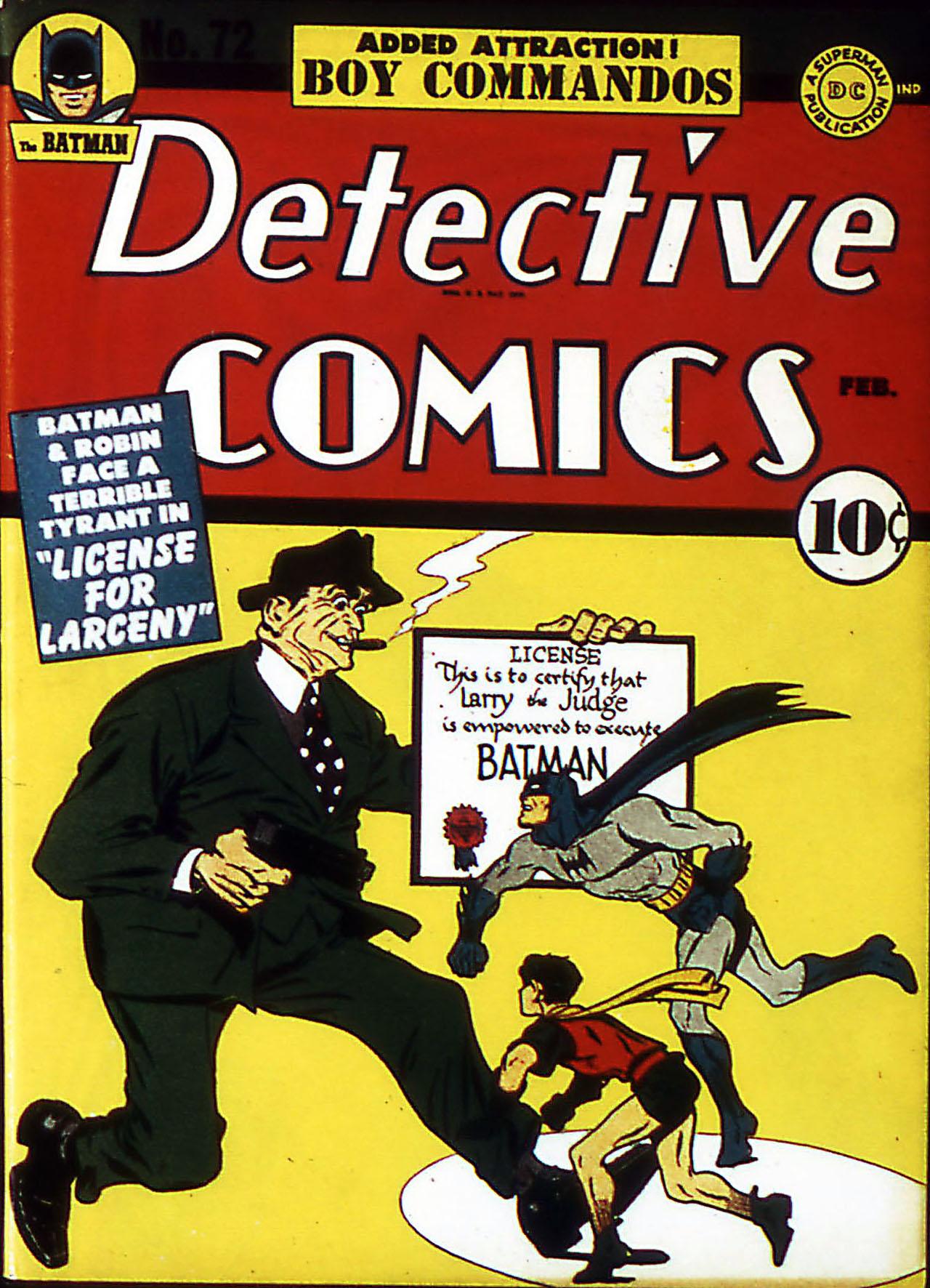 Detective Comics (1937) 72 Page 1