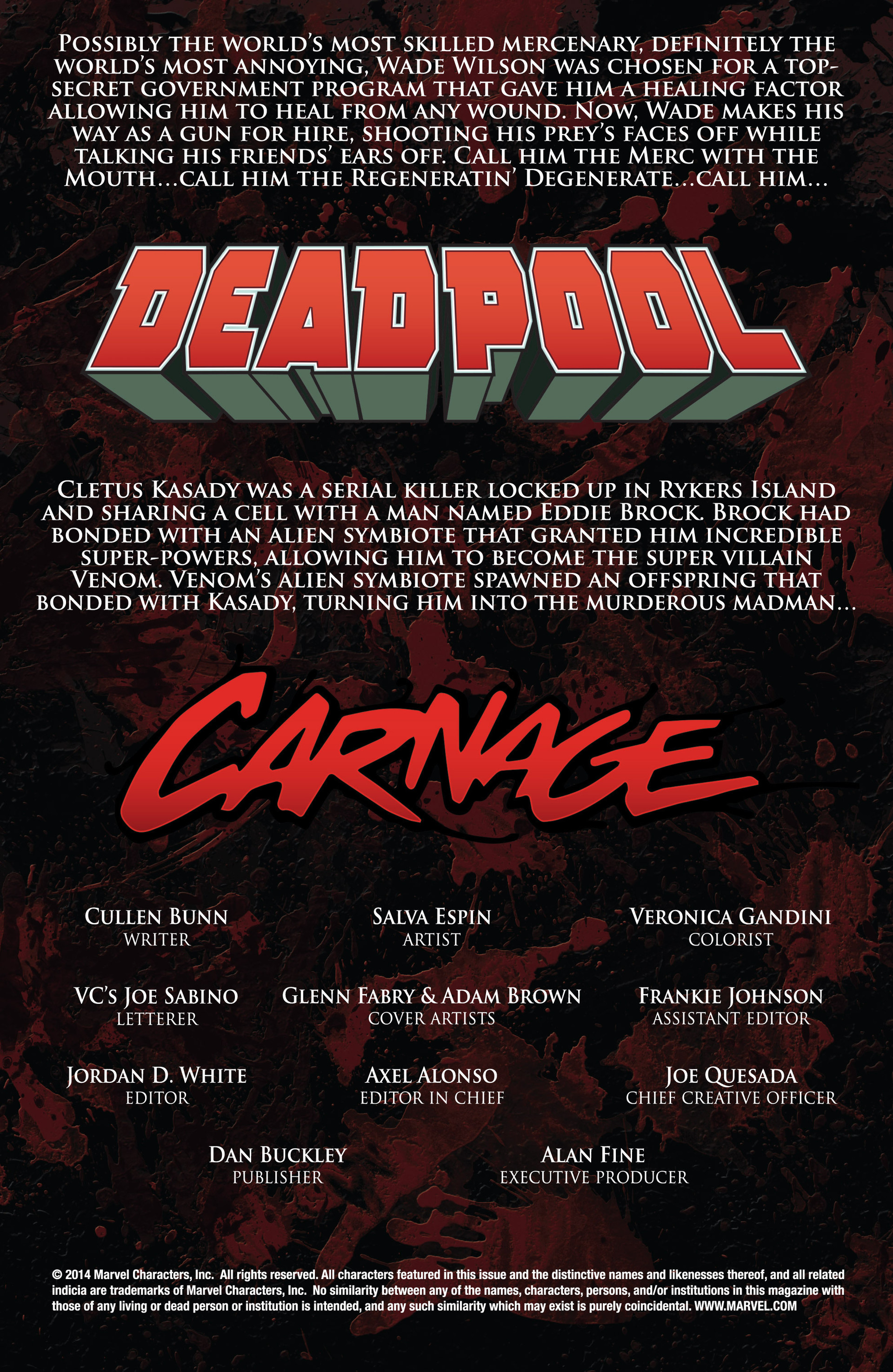 Read online Deadpool vs. Carnage comic -  Issue #1 - 2