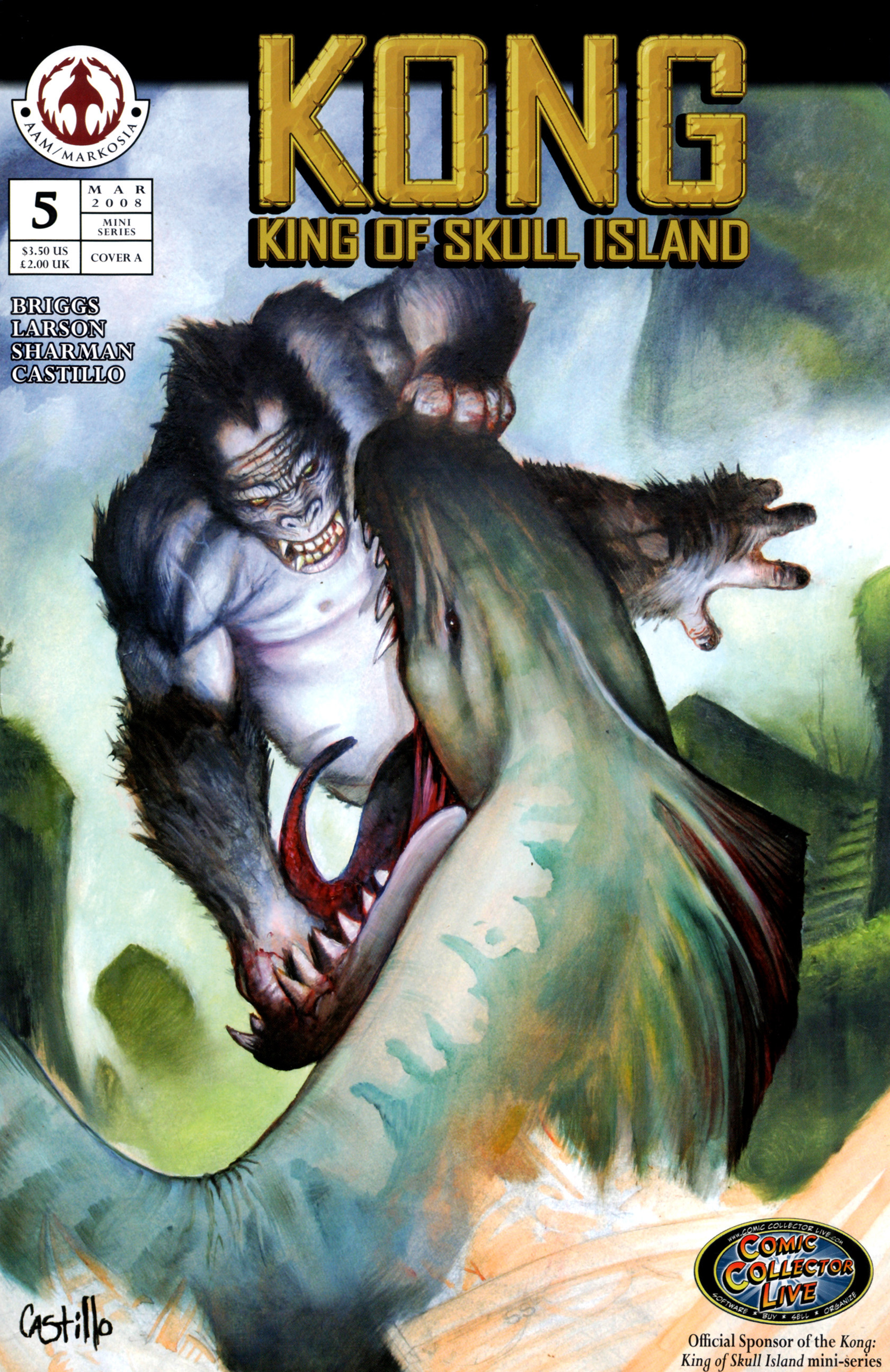 Read online Kong: King Of Skull Island comic -  Issue #5 - 1