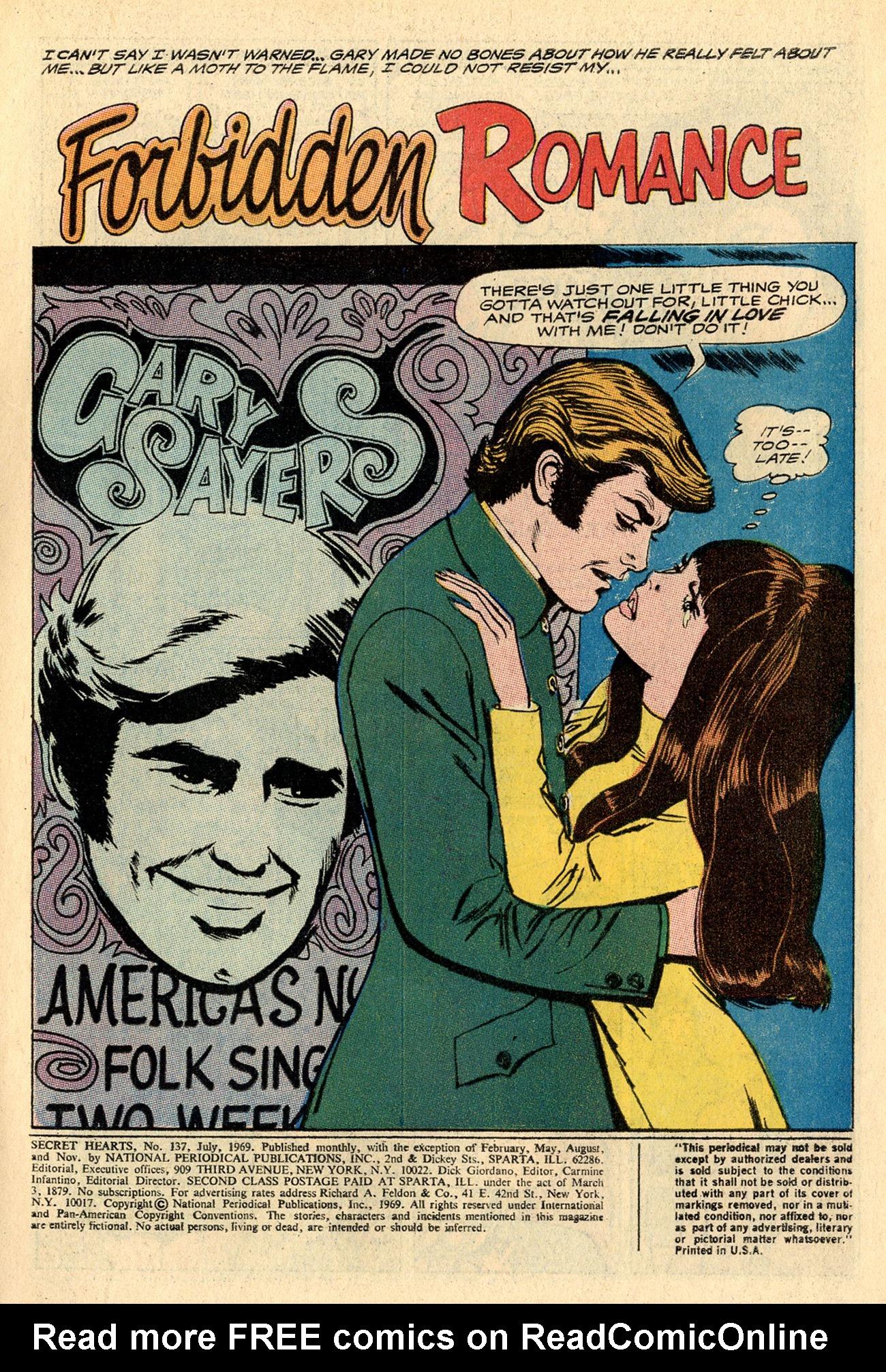 Read online Secret Hearts comic -  Issue #137 - 3