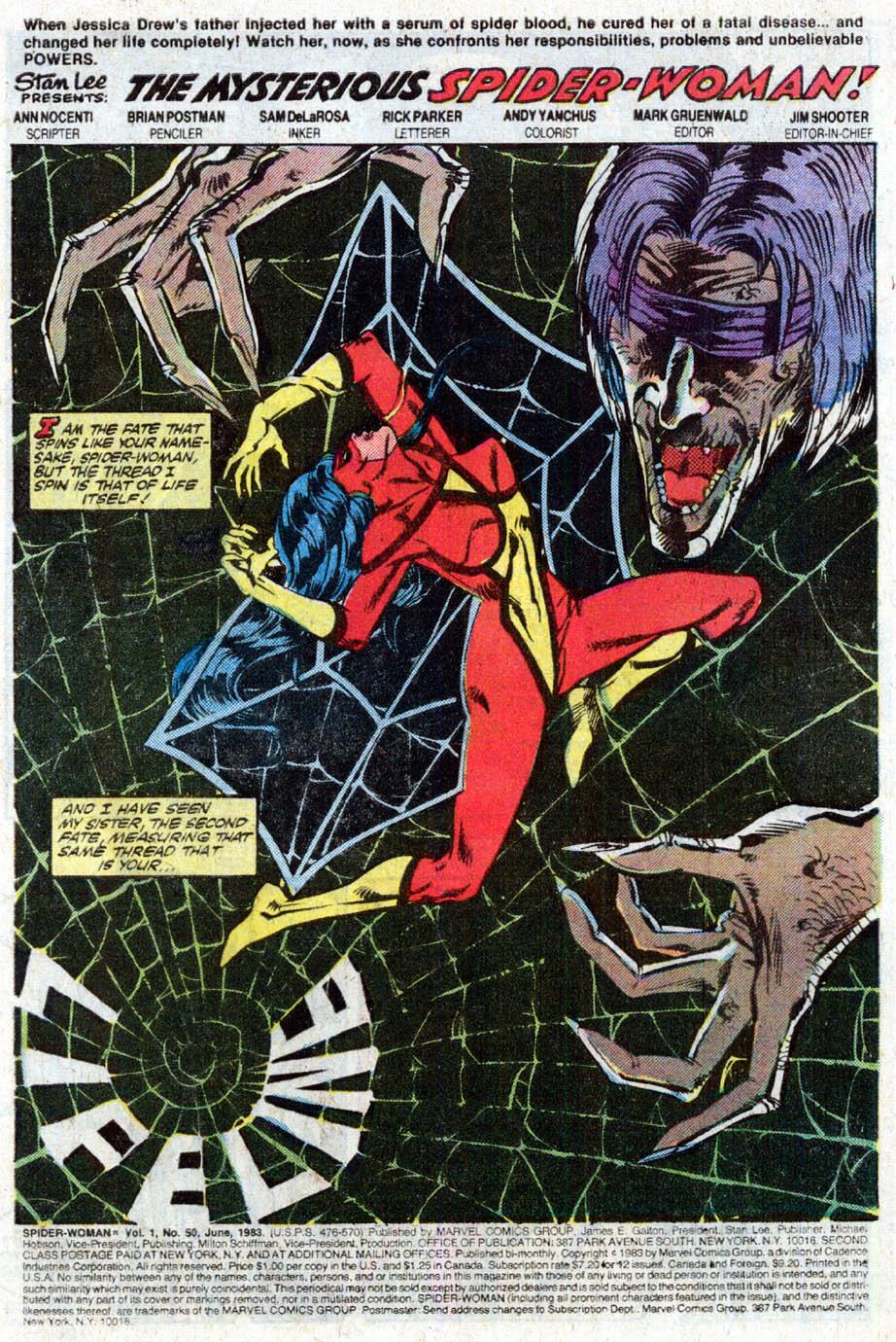 Spider-Woman (1978) #50 #50 - English 2