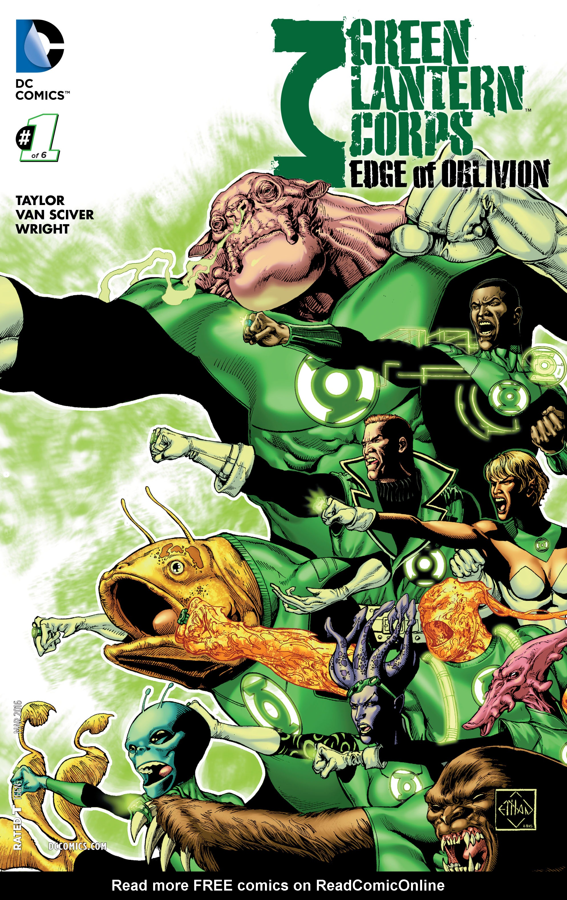 Green Lantern Corps: Edge of Oblivion 1 Page 1