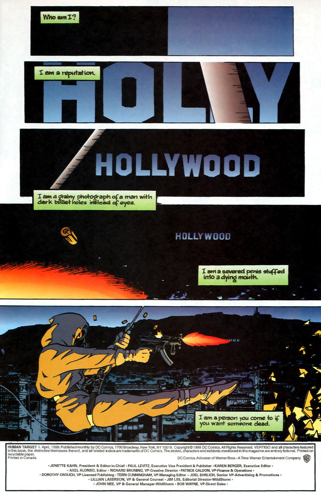 Human Target (1999) 1 Page 1