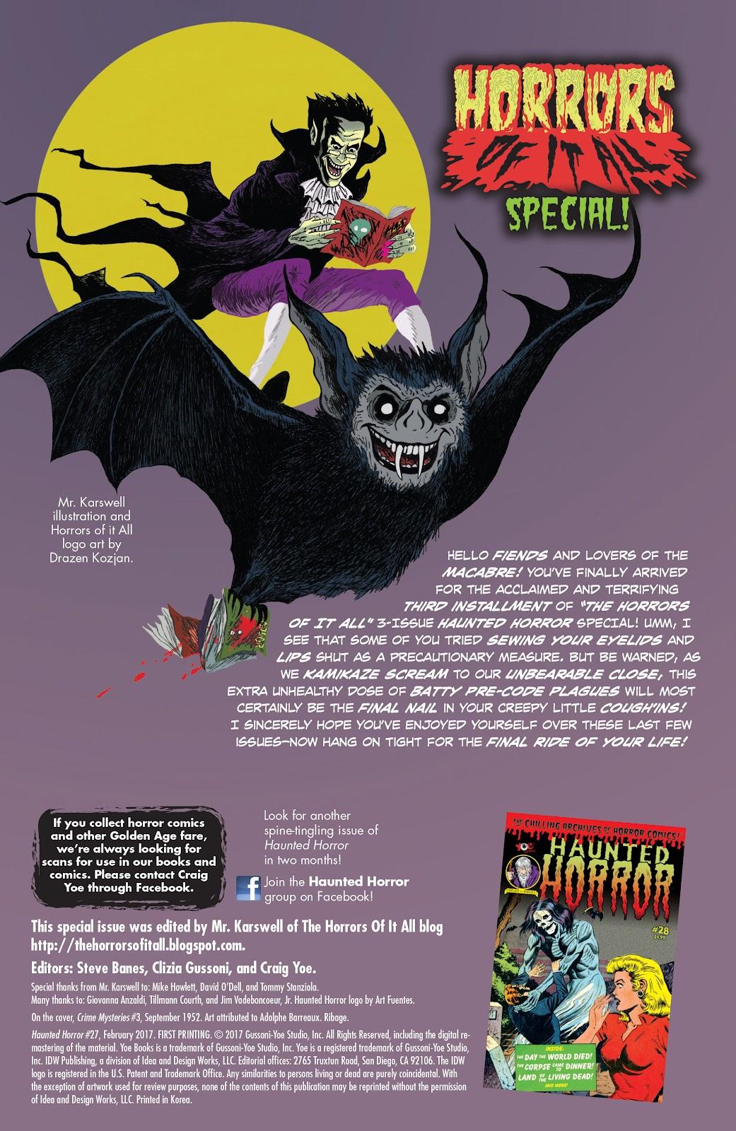 Haunted Horror Issue #27 #27 - English 2